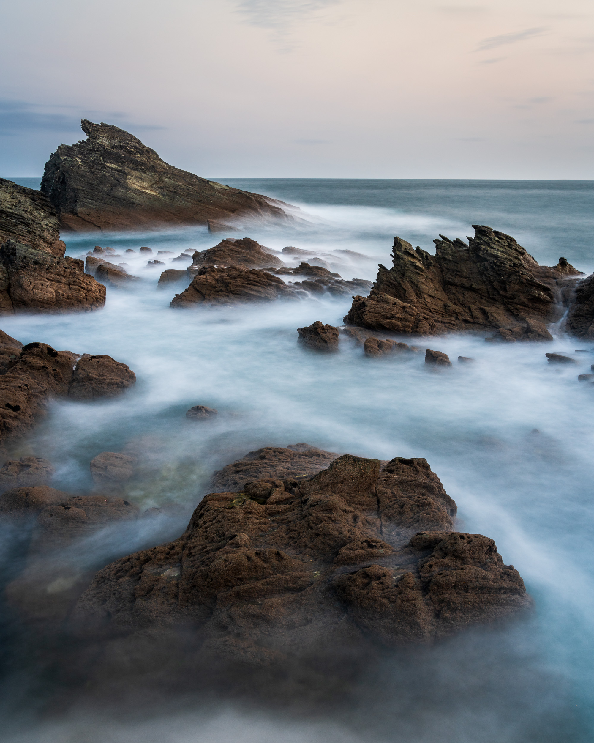 The Rocks at Gammon Head #4, Devon  - Nikon D850, Nikkor 24-70 mm f/2.8 VR at 27 mm, 30 seconds at ISO 64, f/13, Lee Filters Circular Polariser and 6 Stop IR ND.
