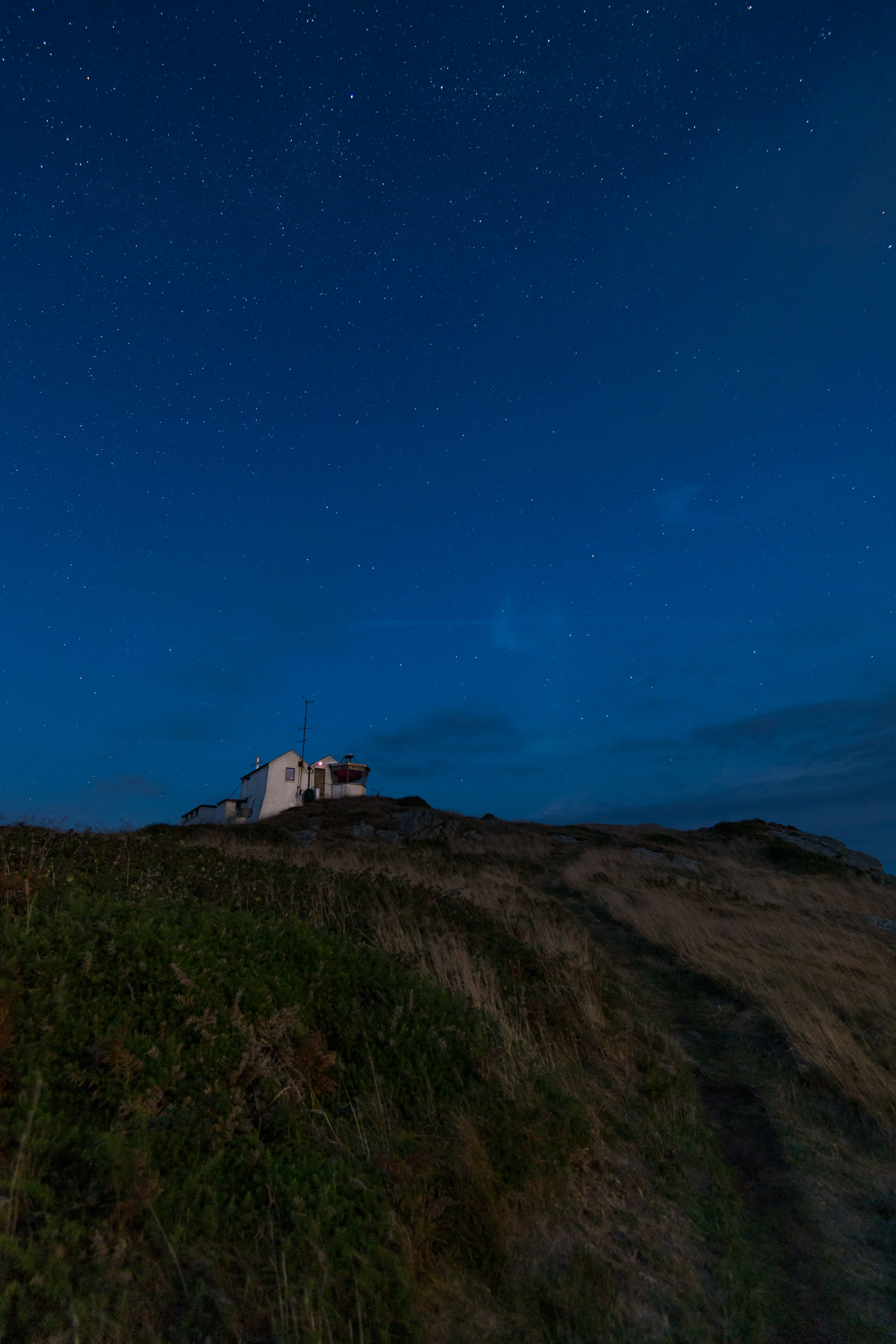 A Stary Night at Prawle Point Coastguard Lookout, Devon  - Nikon D850, Nikkor 16-35 mm f/4 at 16 mm, 15 seconds at ISO 1600, f/14.