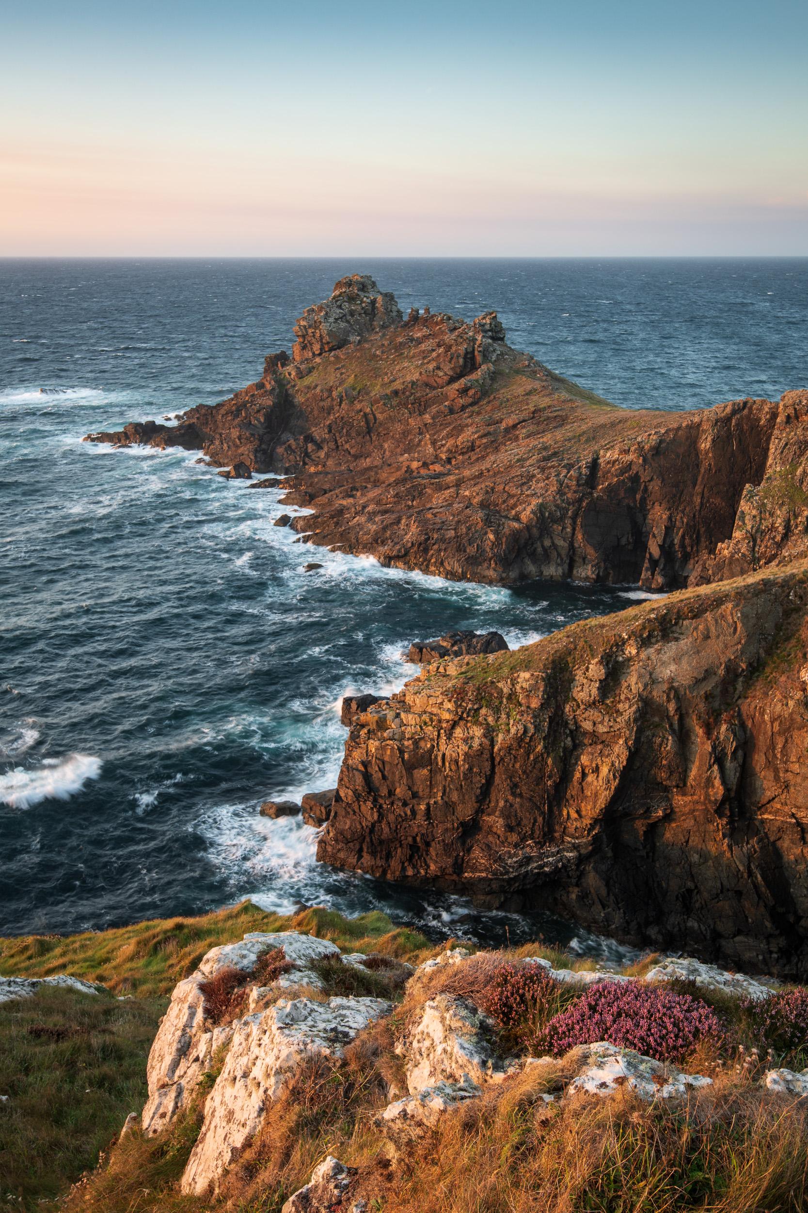 Gurnard's Head Sunset #1, Cornwall  - Nikon D850, Nikkor 16-35 mm f/4 at 32 mm, 0.4 secs at ISO 64, f/13, Lee Filters ND Grad.