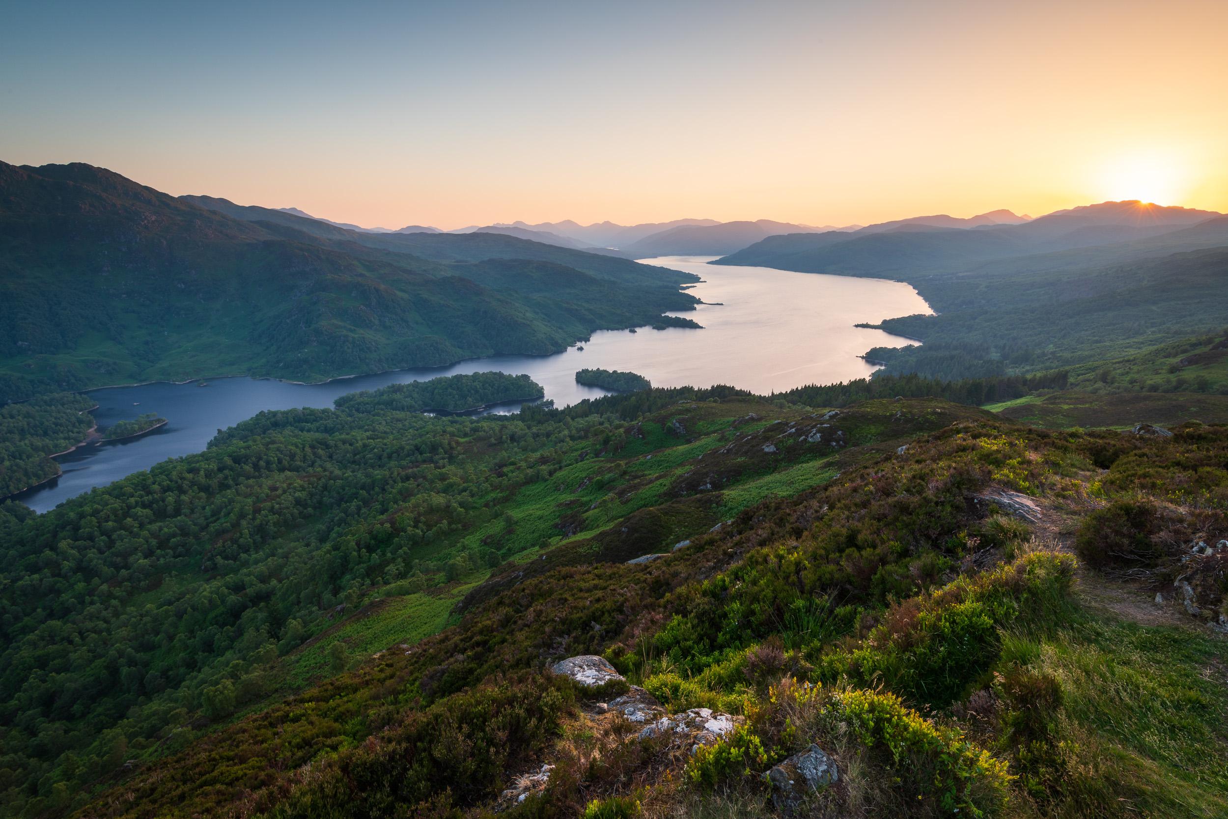 A Summer Sunset At Ben A'an and Loch Katrine, The Trossachs, Scotland