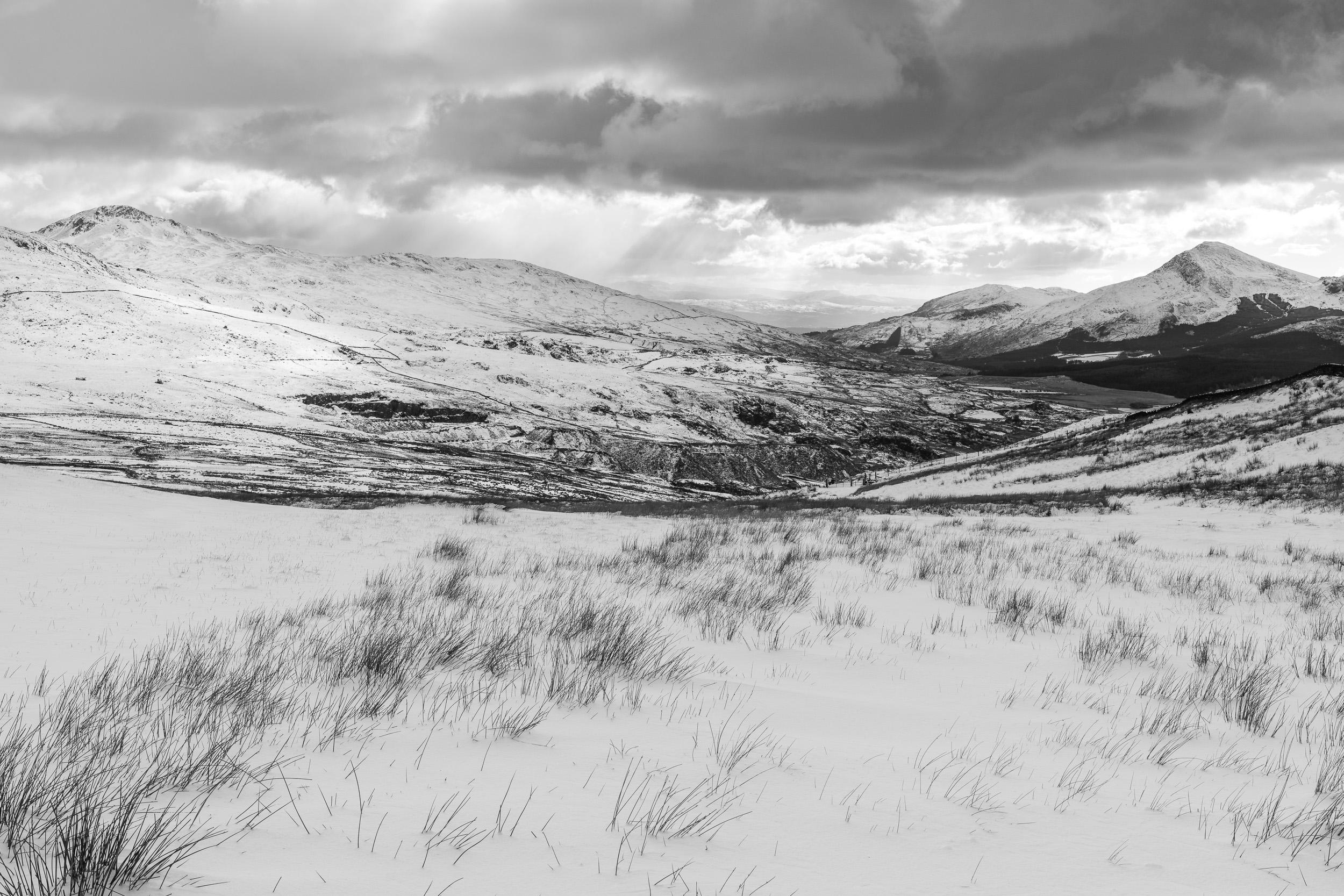 Yr Aran, Craig Wen and Moel Hebog from Bwlch Maesgwm, Snowdonia National Park  - Nikon D850, Nikkor 24-70 mm f/2.8 VR at 34 mm, f/11, 1/60th sec at ISO 64, polariser and ND grad.