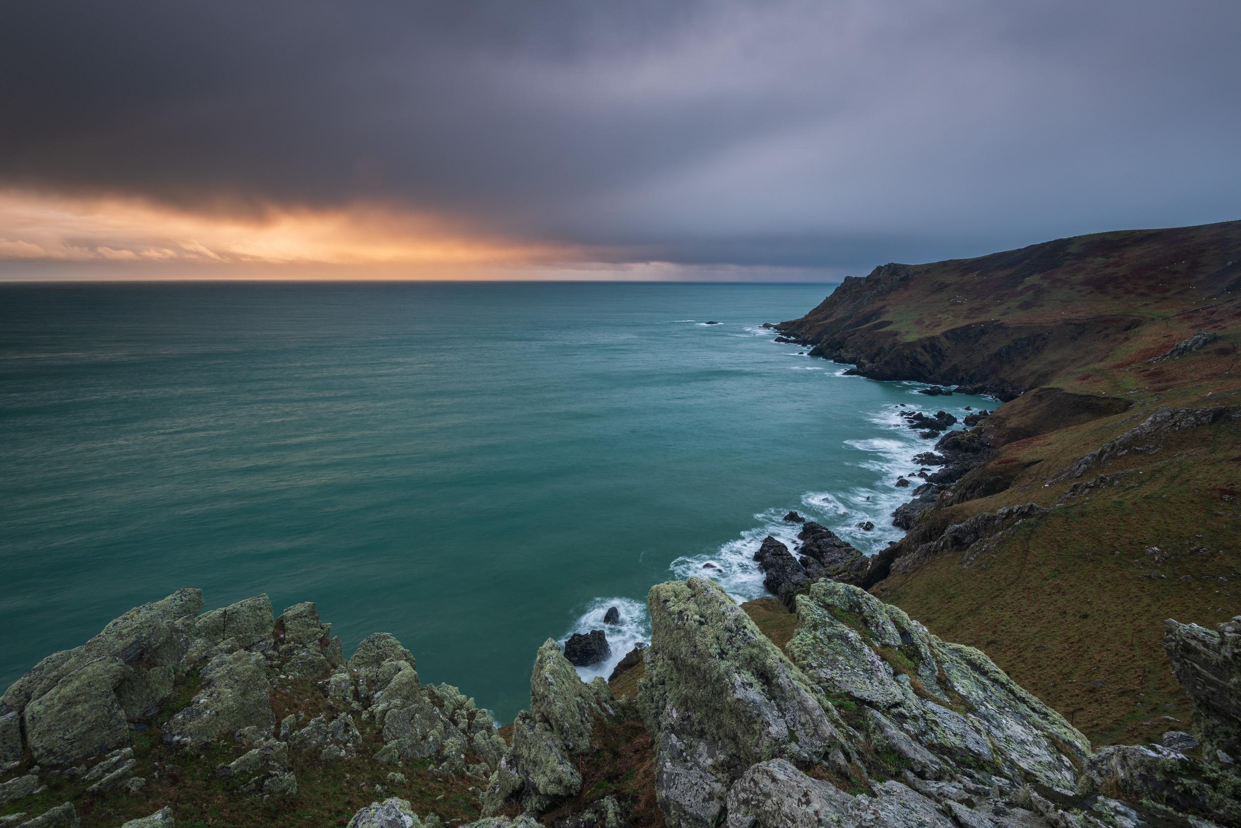 Breaking Light at Start Point, Devon  - Nikon D850, Nikkor 16-35 mm f/4 at 18 mm, f/13, 2 seconds at ISO 64, polariser, ND grad.