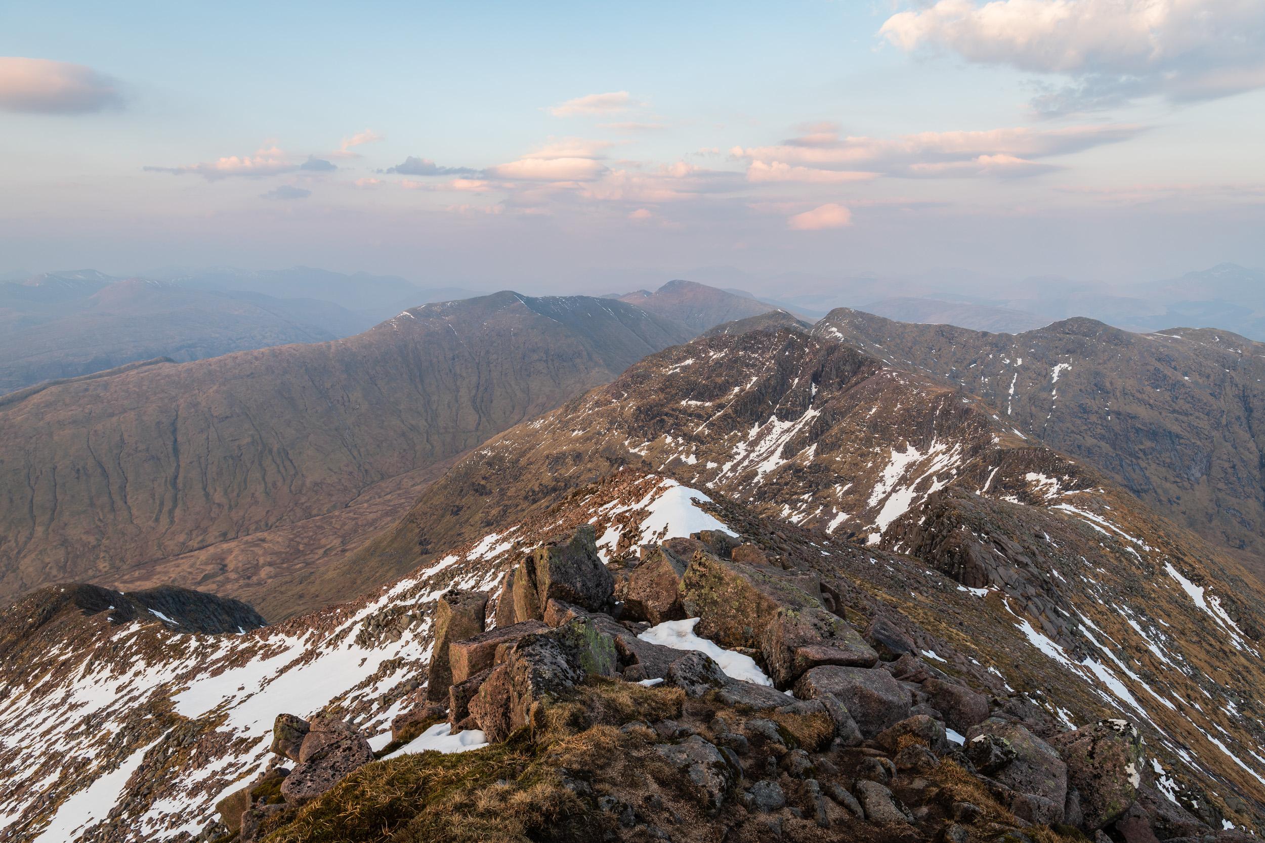Drochaid Ghlas from Ben Cruachan, Argyll, Scotland  - Nikon D850, Nikkor 24-70 mm f/2.8 VR at 24, f/13, 1/5th sec at ISO 64.