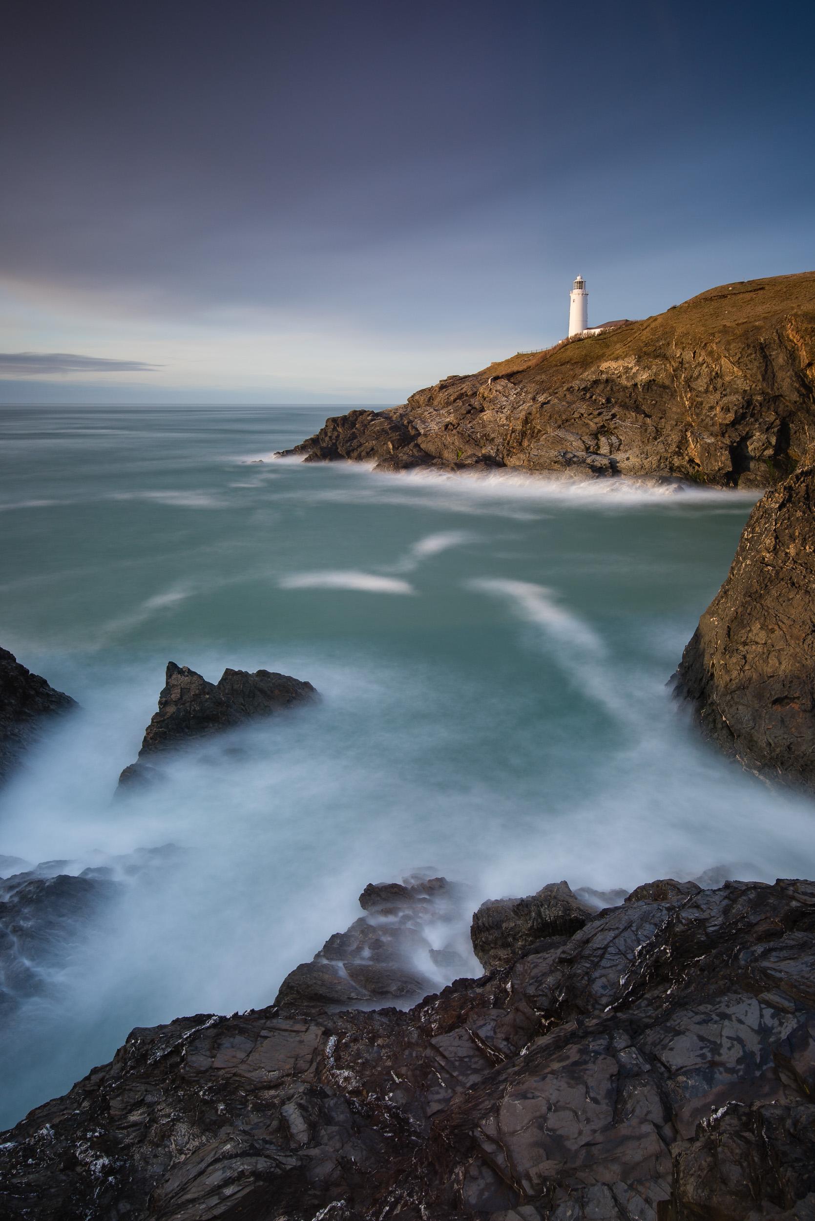 Last Light at Trevose Head, Cornwall  - Nikon D750, Nikkor 16-35mm f/4 at 22mm, f/11, 97 seconds at ISO 100.