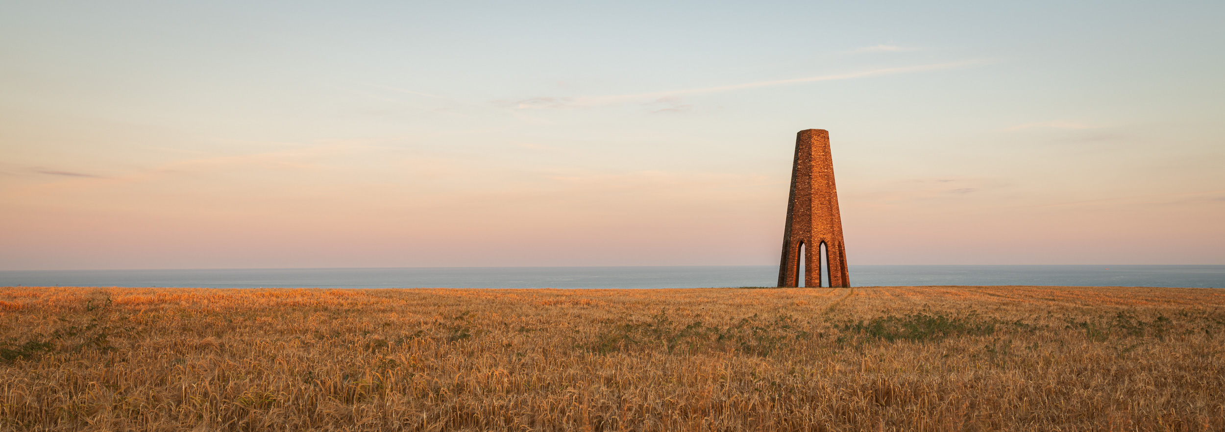 Fire Beacon, Daymark Tower, Devon  - Nikon D850, Nikkor 16-35mm f/4 at 24mm, f/13, 0.4 second at ISO 64 (single image crop at 16:7).