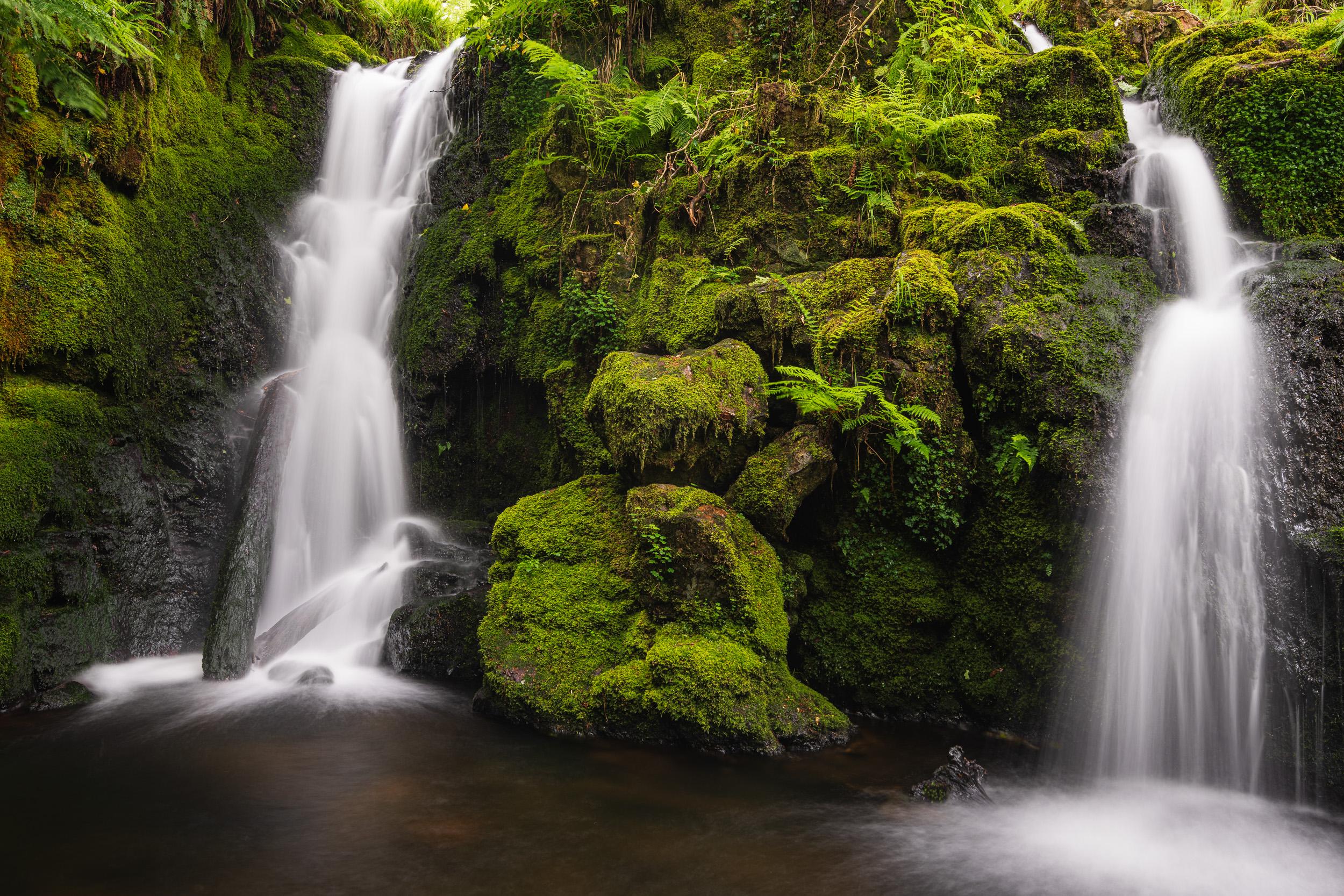 The Twin Falls of Venford, Dartmoor, Devon  - Nikon D850, Nikkor 16-35 mm f/4 at 28 mm, f/11, 4 sec at ISO 64, Kase CPL.