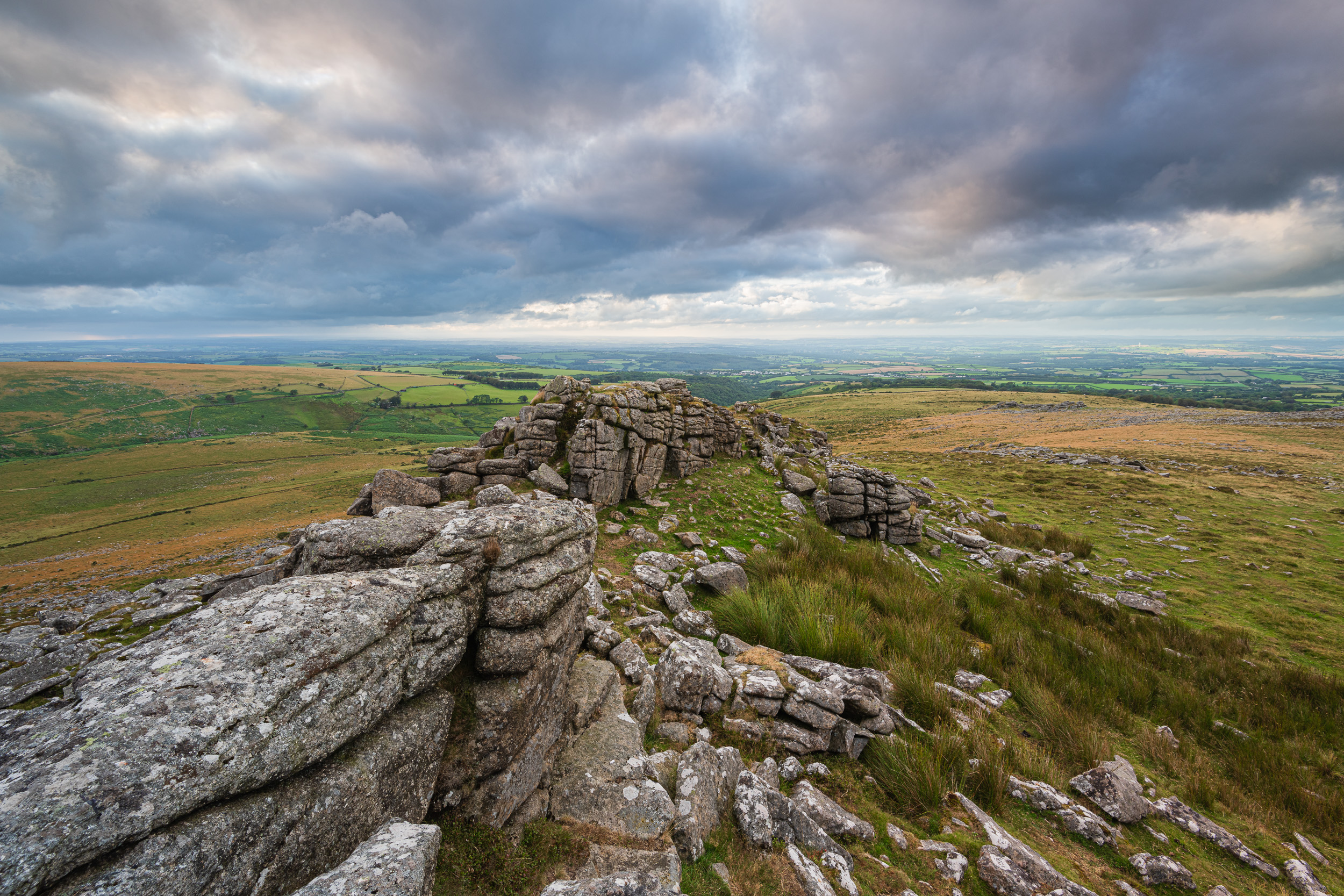 Stormy Belstone #2, Dartmoor, Devon  - Nikon D850, Nikkor 16-35 mm f/4 at 16 mm, f/13, 1/3rd sec at ISO 64, Kase CPL and ND grad.