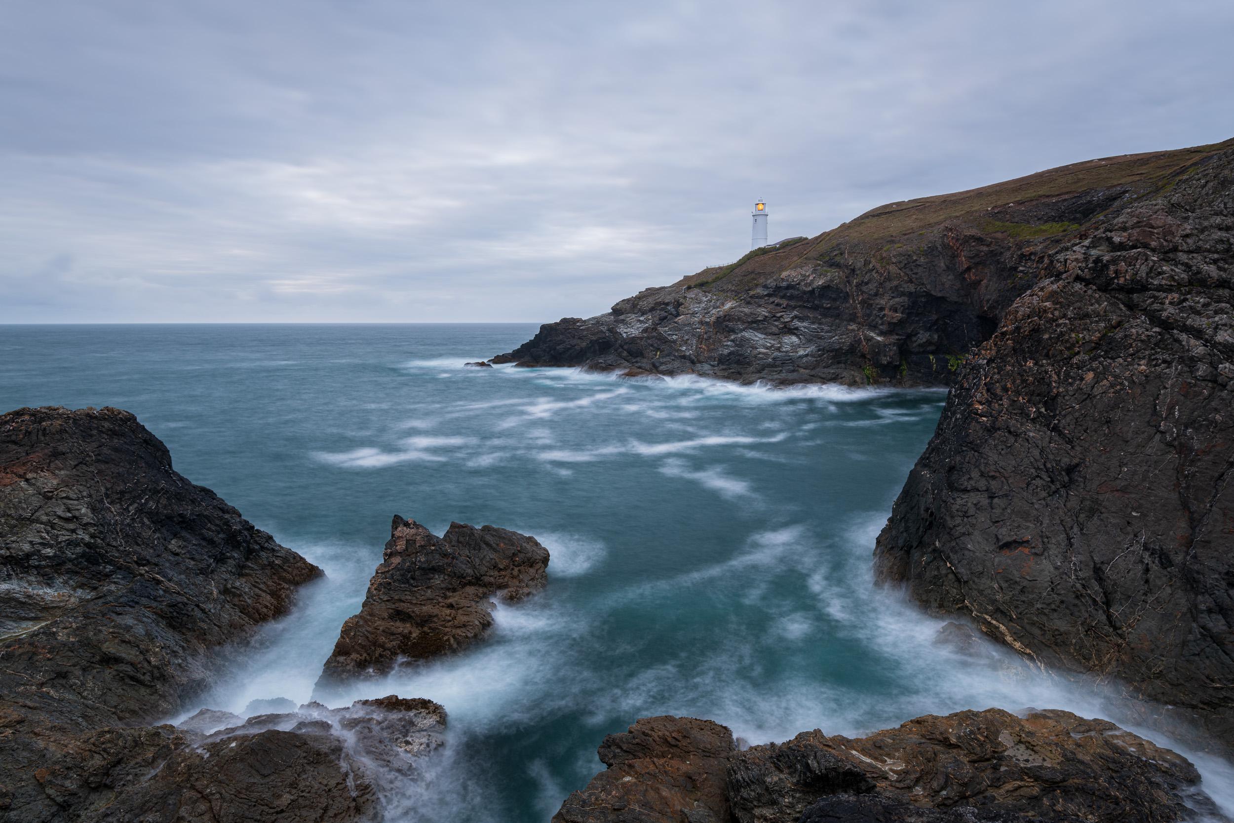 A Long Night Ahead - Trevose Head, Cornwall  - Nikon D850, Nikkor 16-35 mm f/4 at 20 mm, f/13, 13 sec at ISO 64, Kase CPL and 6 stop ND.