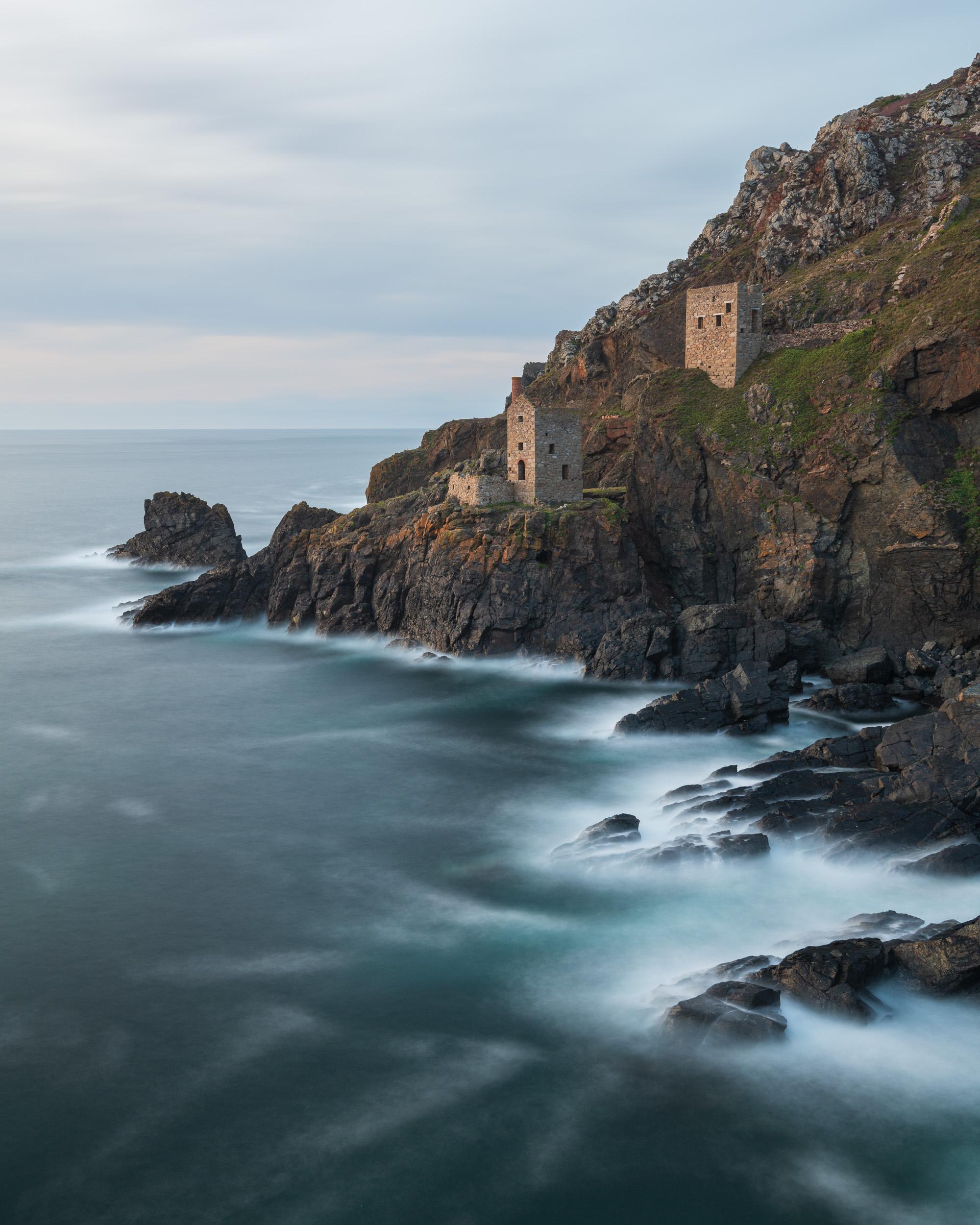 Botallack #3, Cornwall  - Nikon D850, Nikkor 16-35 mm f/4 at 30 mm, f/13, 90 sec at ISO 64, Kase CPL and 6 stop ND.