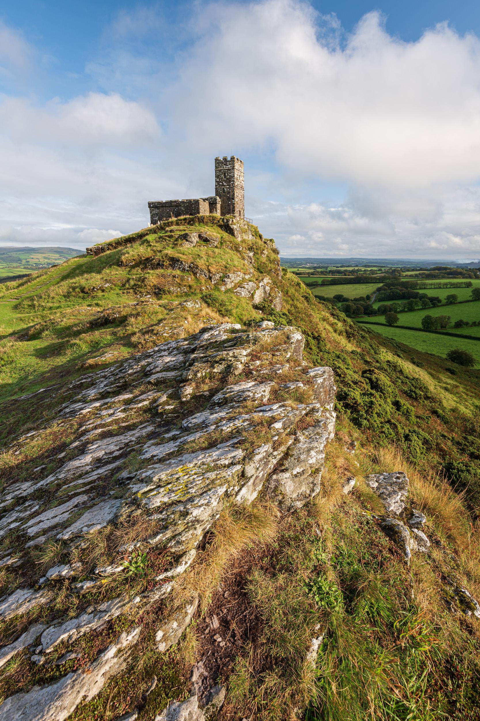 Brent Tor, Dartmoor, Devon  - Nikon D850, Nikkor 16-35 mm f/4 at 16 mm, f/14, 1/13th sec at ISO 64, Kase CPL.