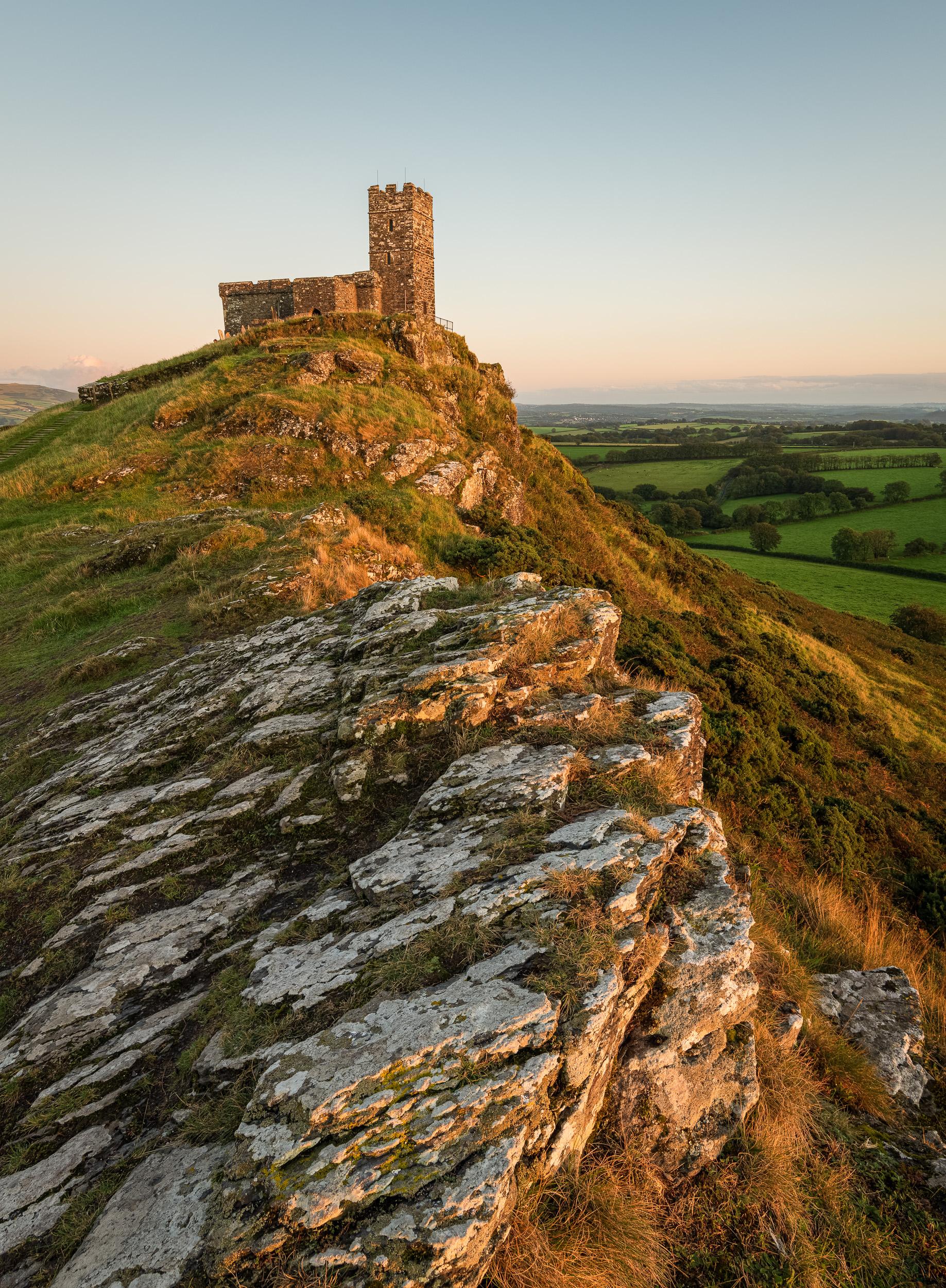 Brentor Church Sunset #2, Dartmoor, Devon  - Nikon D850, Nikkor 16-35 mm f/4 at 19 mm, f/8, 1/6th sec at ISO 64, Kase CPL. Focus stacked image.