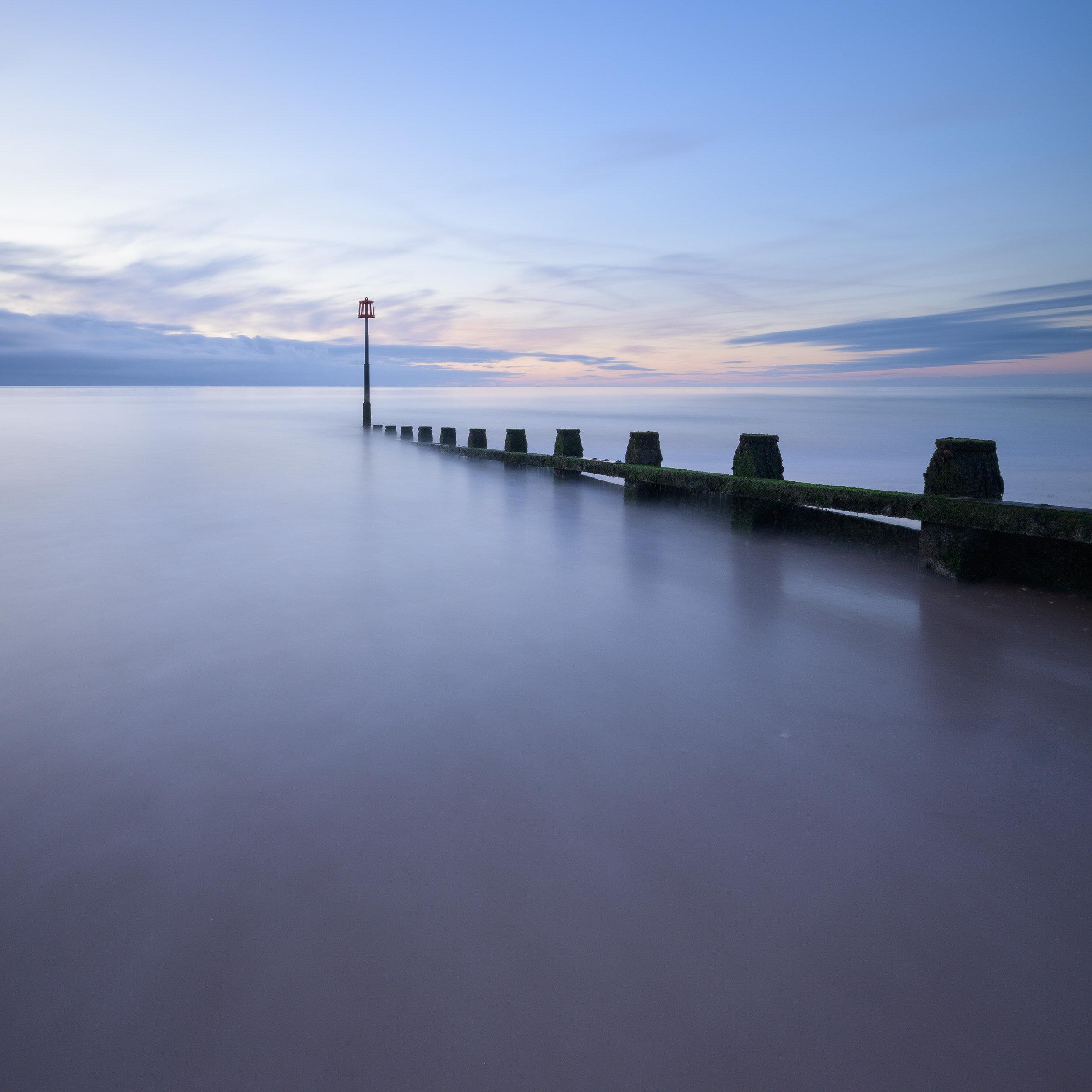 Dawn at Dawlish Warren, Devon  - Nikon Z7 with Nikkor Z 14-30 mm f/4 at 14 mm, f/13, 99 sec at ISO 64, Kase Filters K8 holder, CPL, and 6 stop ND.