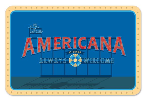 THE AMERICANA AT BRAND - advertising, print, art direction, fashion, retail