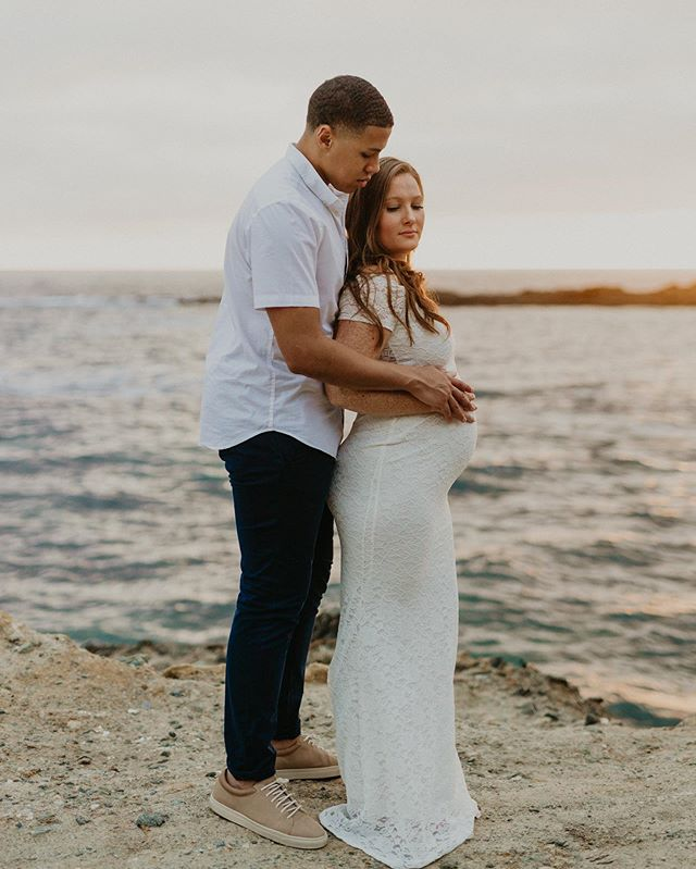 YOU GUYS 🤩 I'm beyond honored to capture yet another milestone of these stunner's lives. From their wedding, to their maternity session 🖤 I adore you both! | el-photographs.com