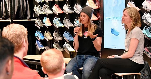 A very warm and sincere thank you to my dear friend and @kneeknacker race director @kelsytrigg and the KK committee for inviting me to speak at their annual runners night @salomonvancouver last night. You have such a beautiful community and I felt really honoured for the opportunity to share some of my personal stories and coaching tips. I hope everyone picked up a nugget or two and I wish you all the very best with your KK prep and a successful race day! xo #grateful #coaching #community #kneeknacker
