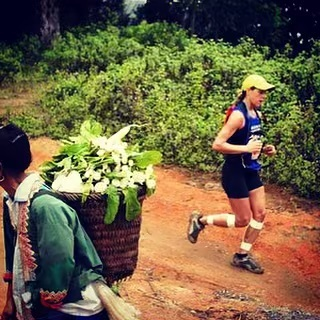 """My first trail running race was a 5 day stage race in Northern Thailand with my hubby @mountaingoattm 🐘 After sharing my story at the runners night I felt a bit nostalgic, so I dug out some photos from the 2005 archives. This was a very pivotal experience for me and shaped my career as a coach, enriched my choices as an athlete and helped me become who I am today. It was an """"elephant moment"""" that taught me suffering is temporary and that giving up lasts forever. #thailand #stagerace #lessonslearned #grateful #TBT"""