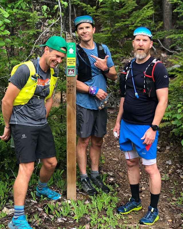 Never a dull moment while exploring with these three gibronies. So many laughings! Thanks for the super fun adventure on the Larch Hills Traverse today fellas! #larchhillstraverse #sicamous #pointtopoint #reconrun #paceteam #biglove
