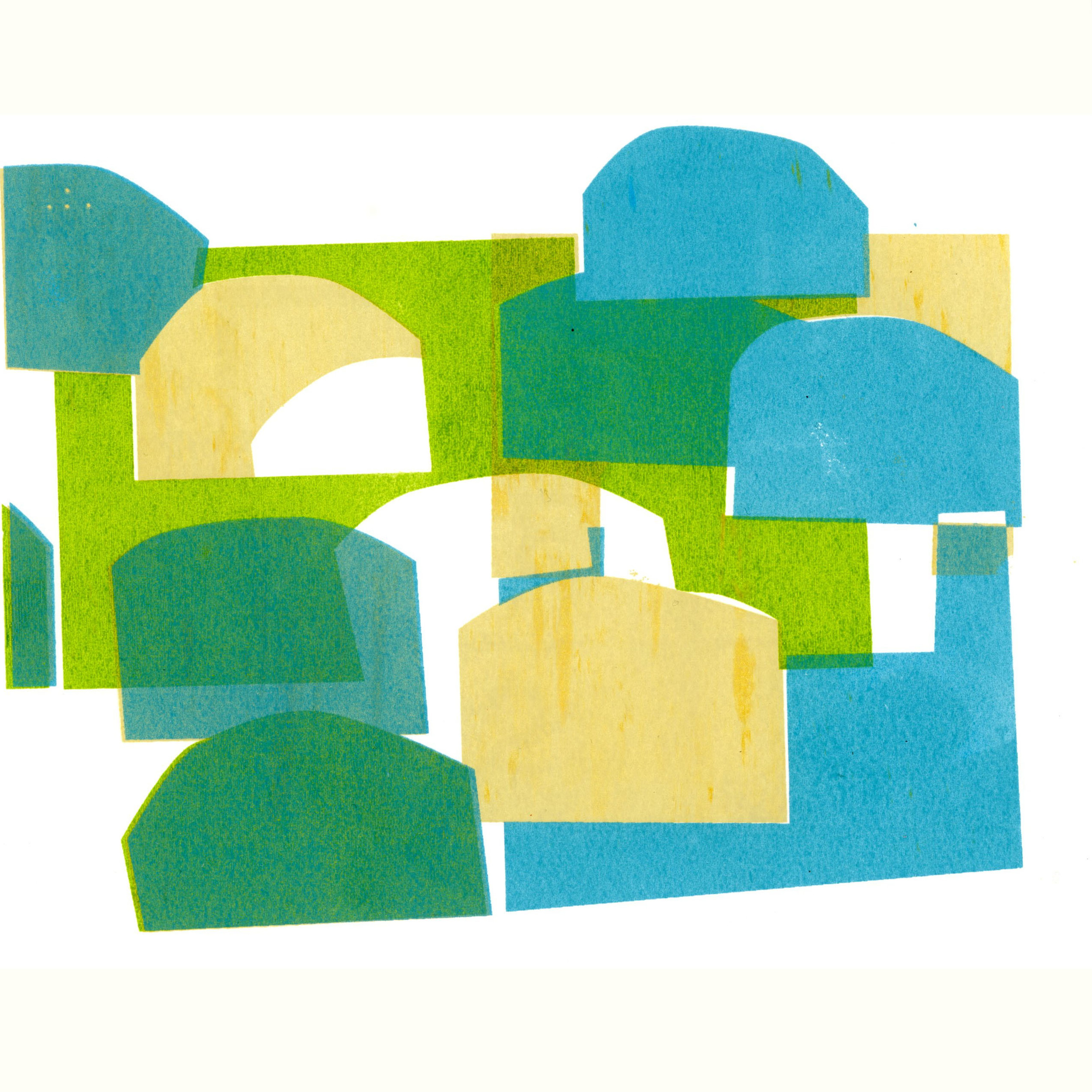 SP11 ,2015  8 x 8 inches on 11 x11 inch paper  screen print