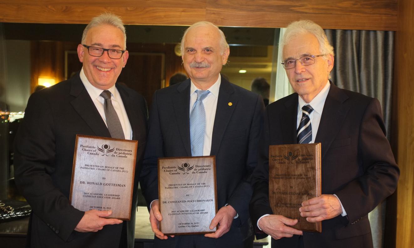 Dr. Ronald Gottesman (McGill), Dr. Constantin Polychronakos (McGill) and Dr. George-Étienne Rivard (Montréal)