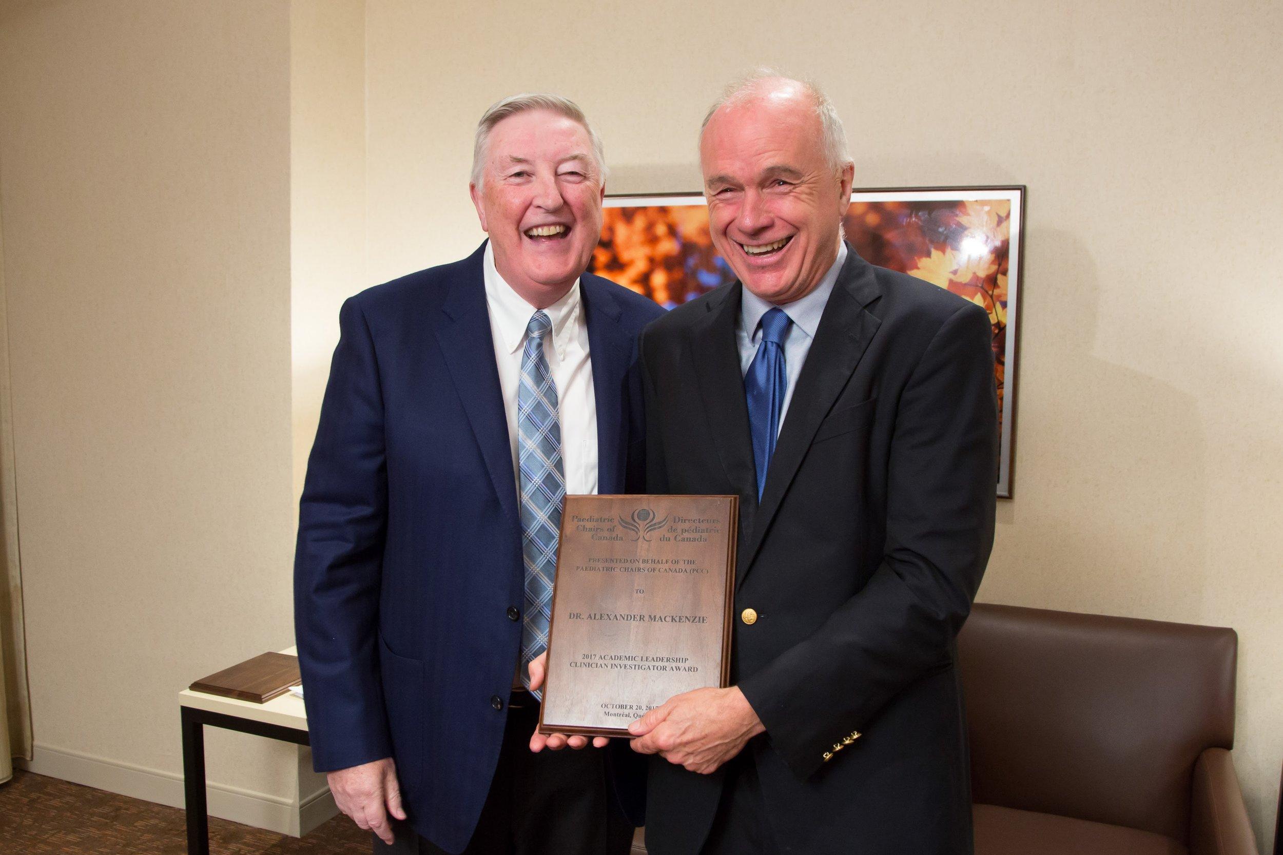 Dr. Ciarán Duffy and Dr. Alexander MacKenzie (Clinician Investigator - University of Ottawa / CHEO)