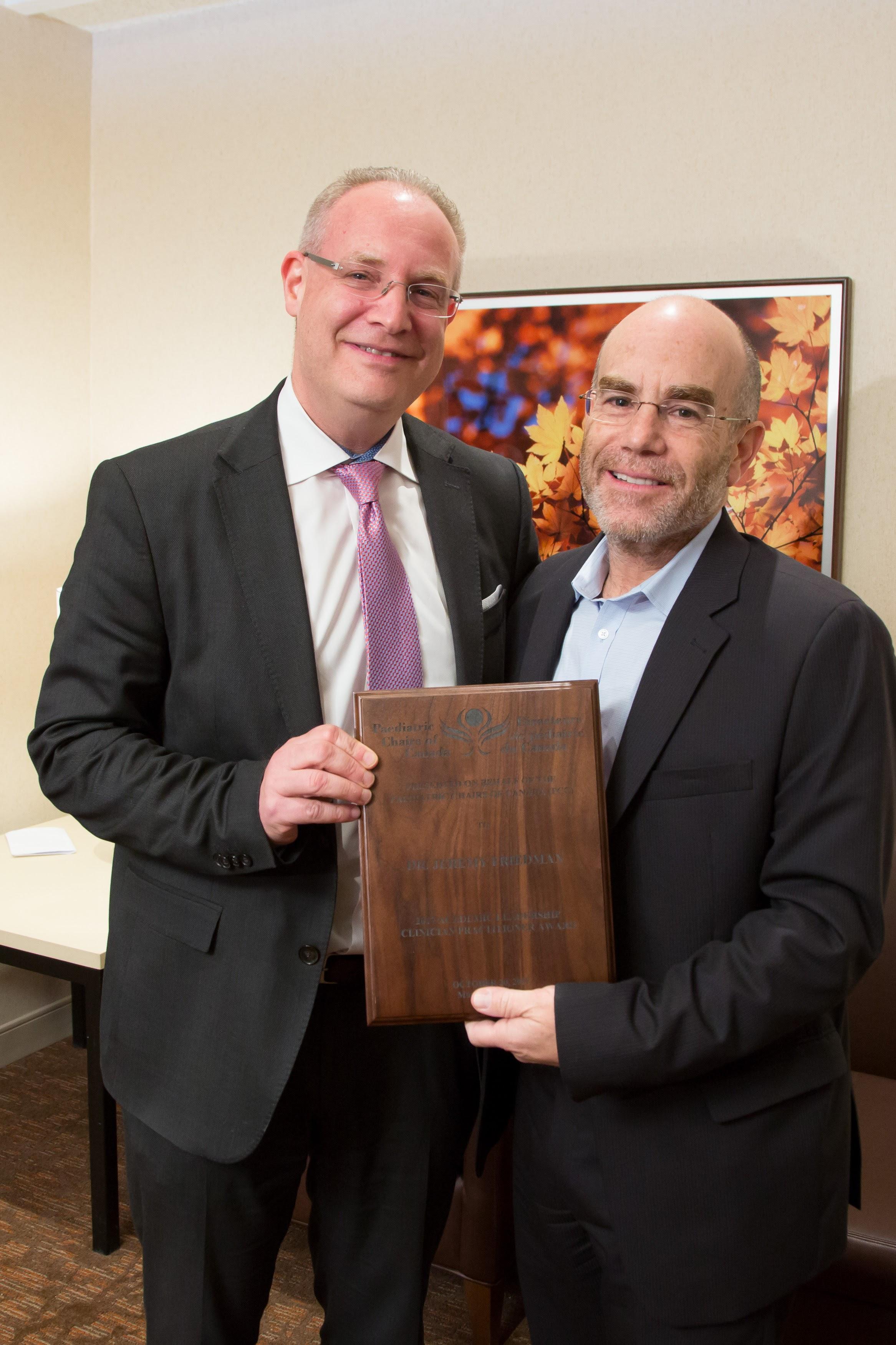 Dr. Ronald Cohn and Dr. Jeremy Friedman (Clinician Practitioner - University of Toronto/SickKids)