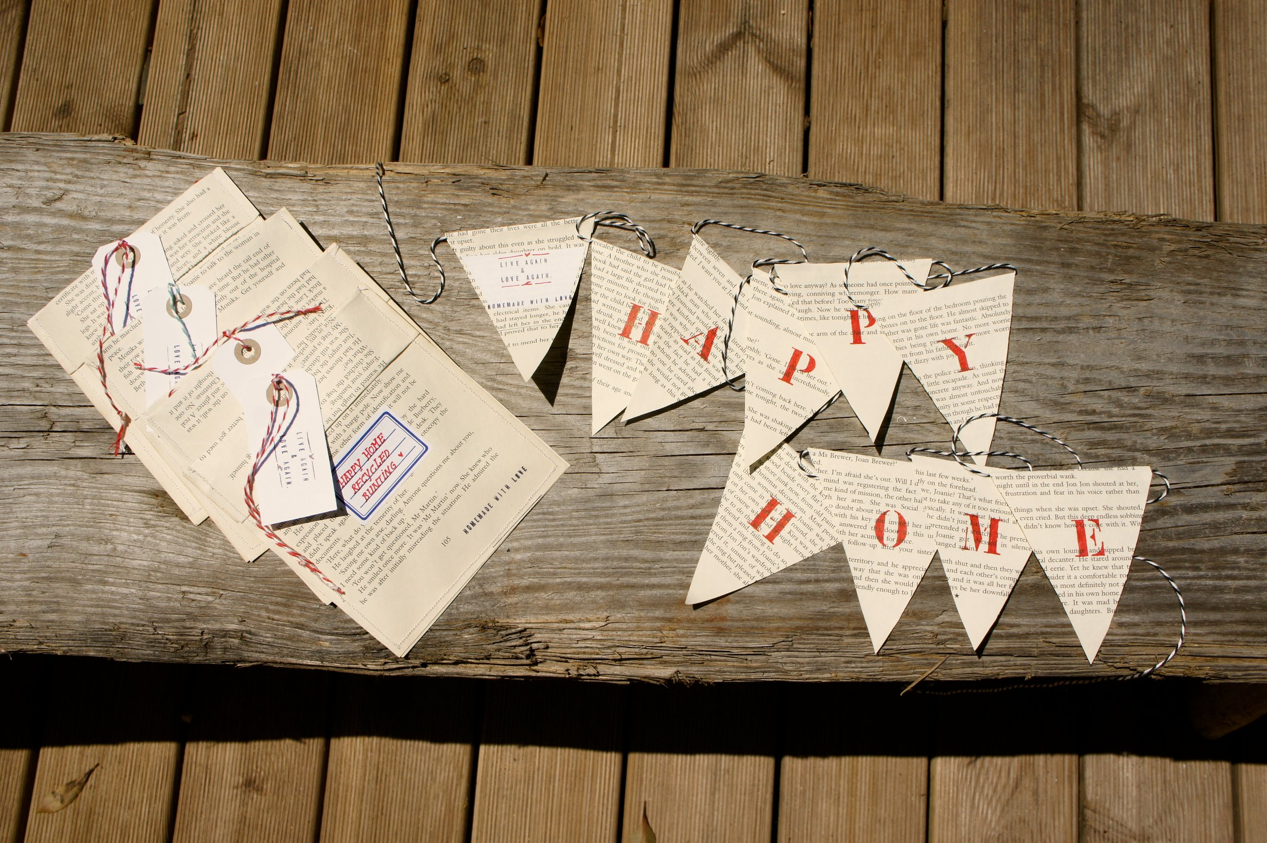 Happy Home bunting..