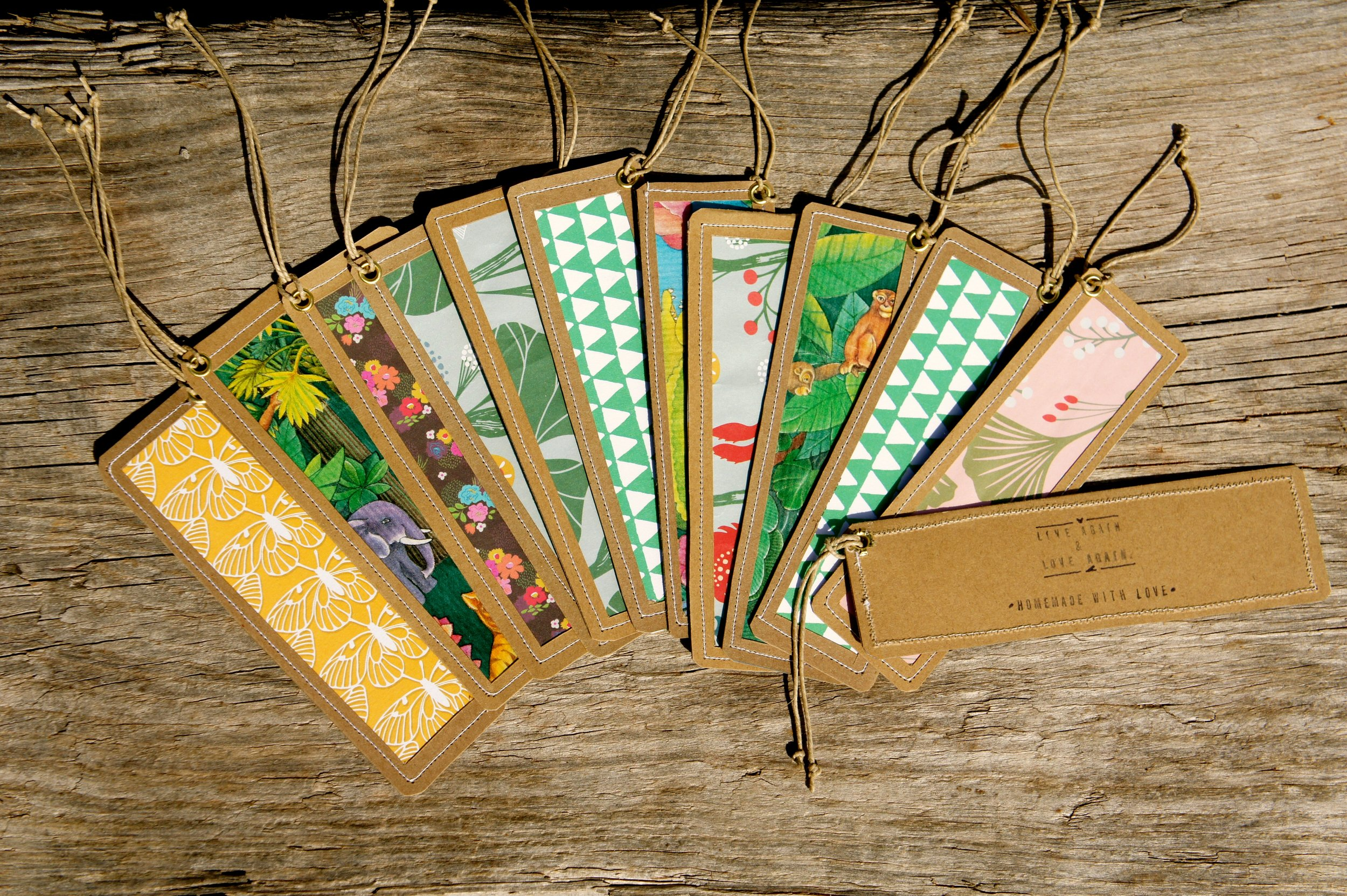Colorful bookmarks for bookworms