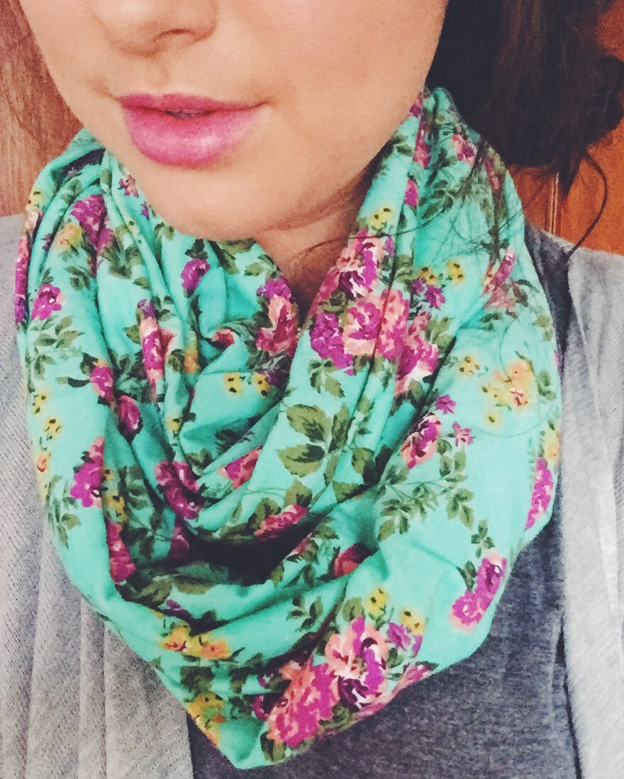 floral scarf for fall