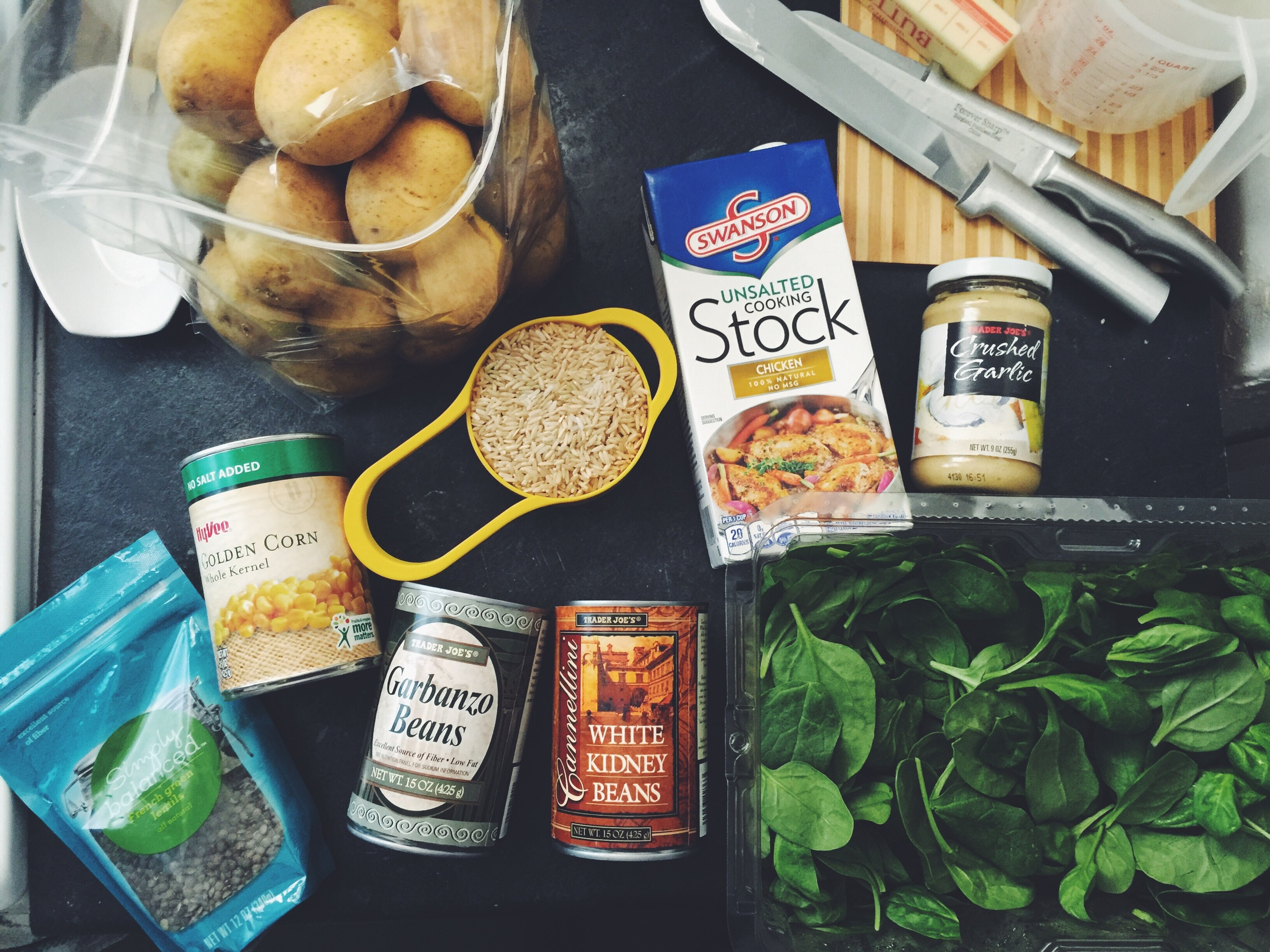 ingredients for homemade soup
