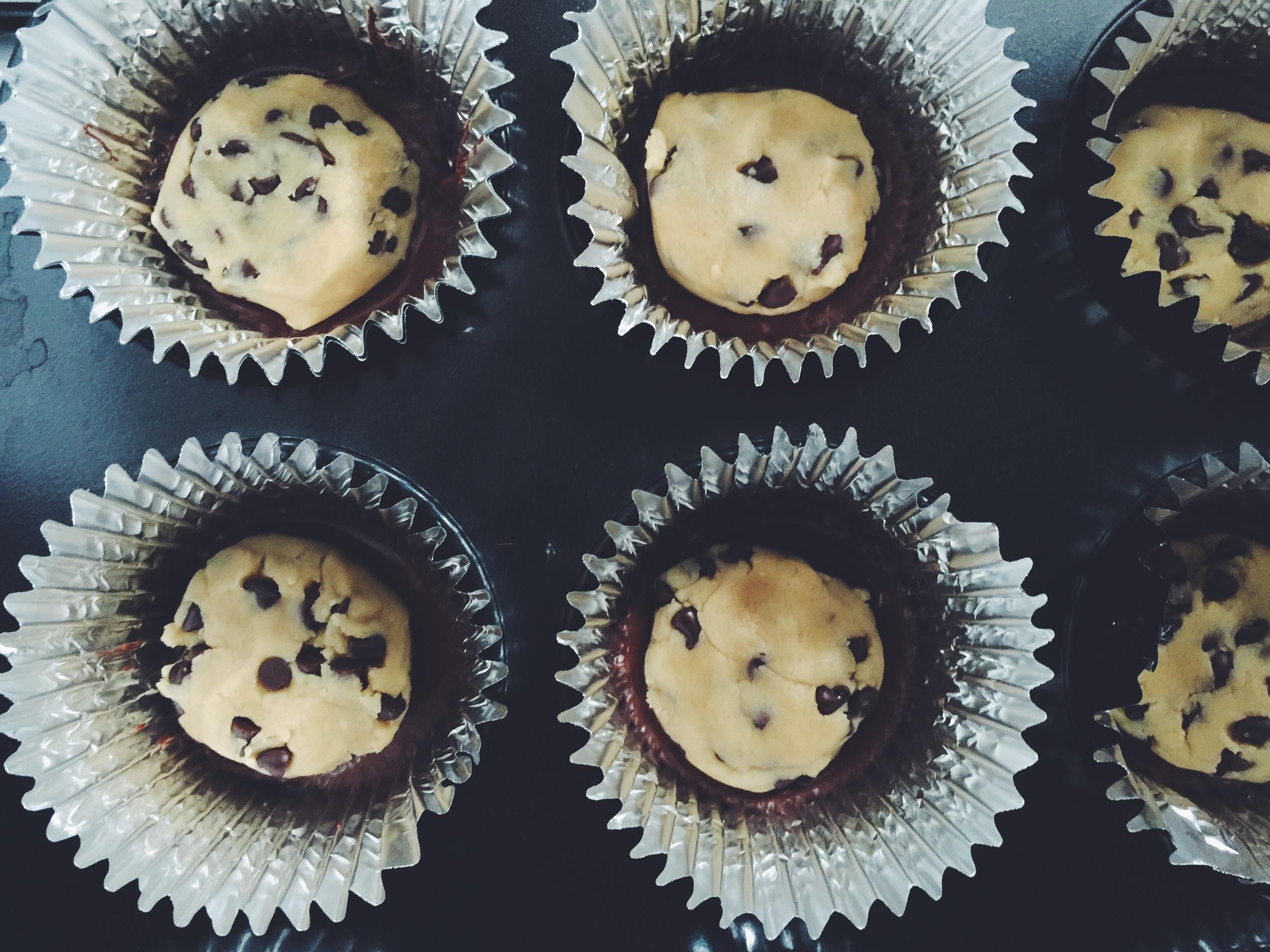 making cookie dough bites
