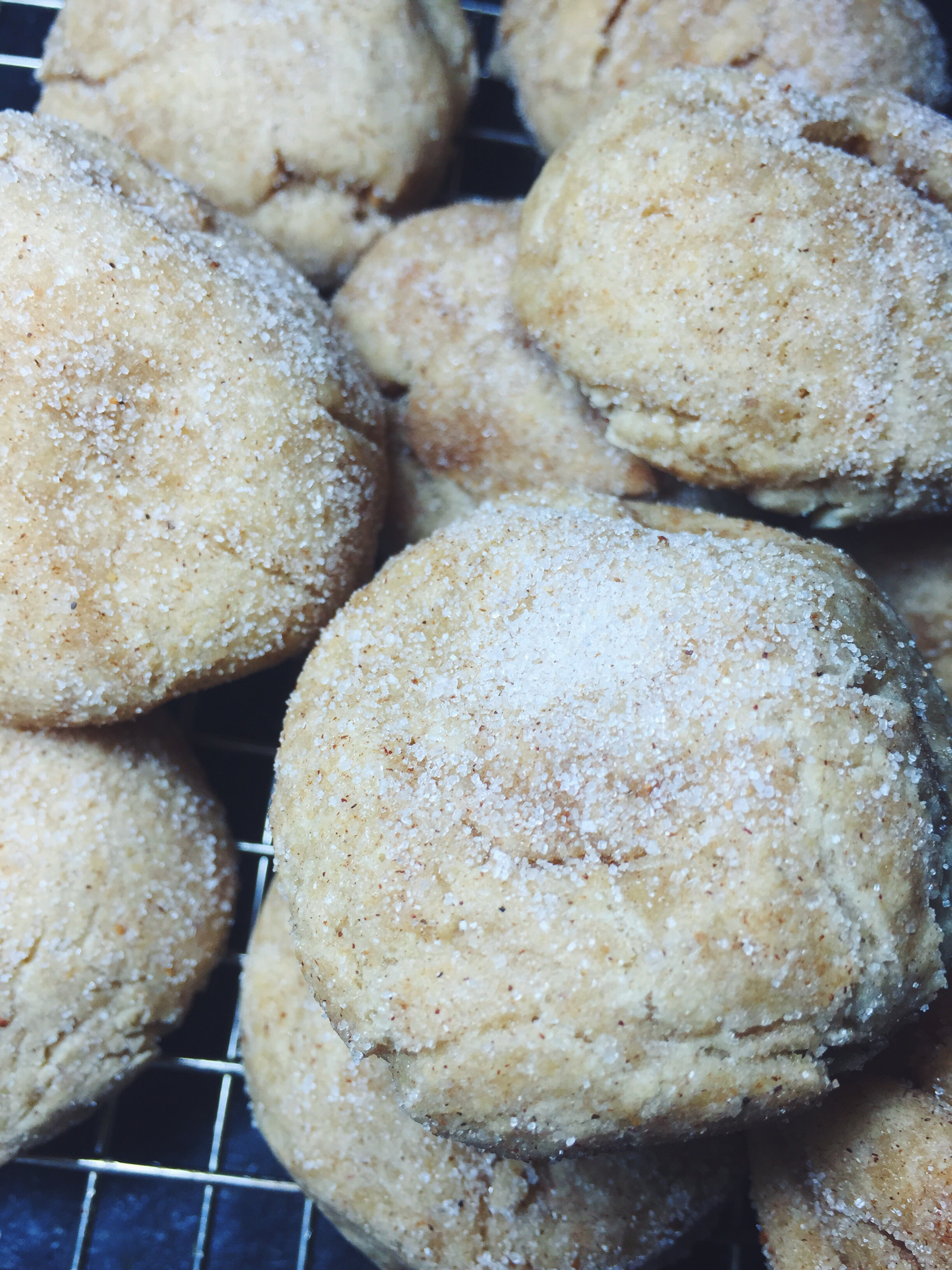 sugary egg nog snickerdoodle cookies