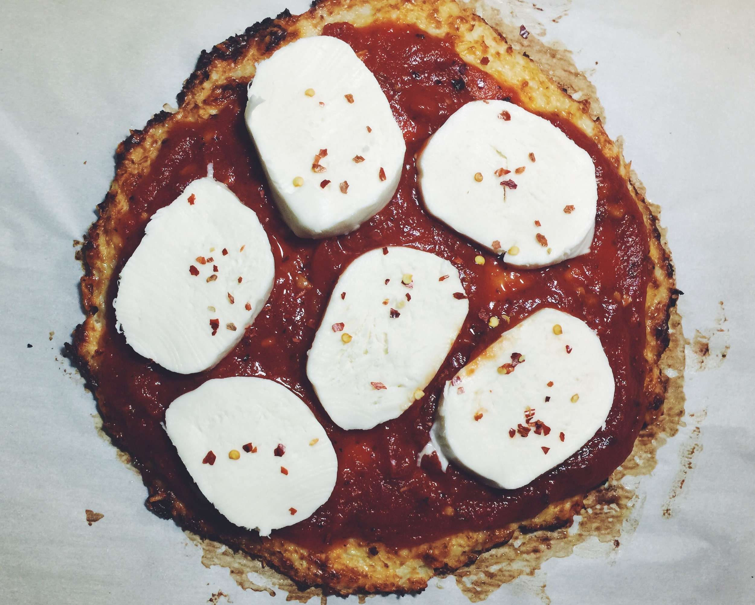 mozzarella on top