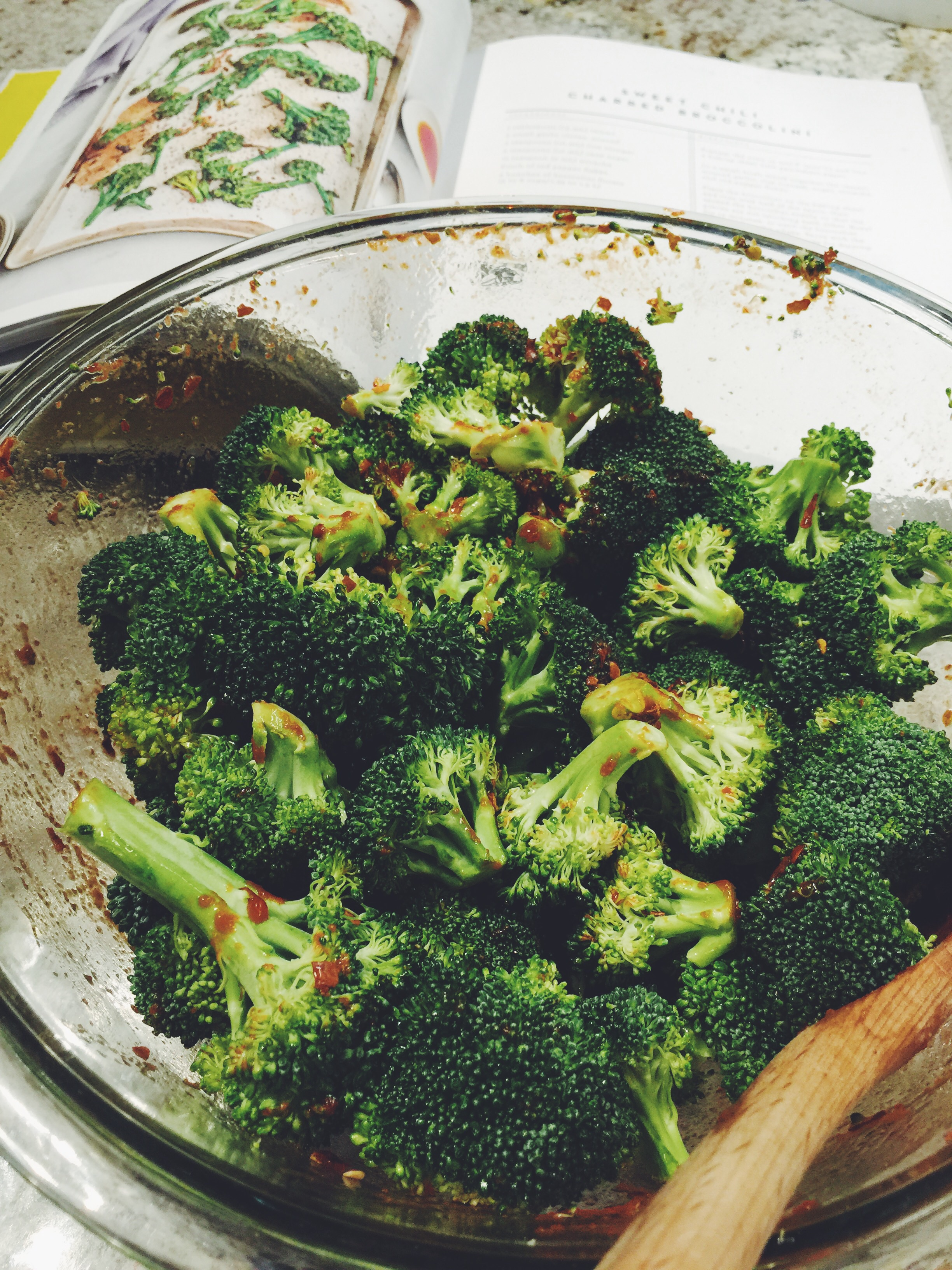 chili-glazed broccoli