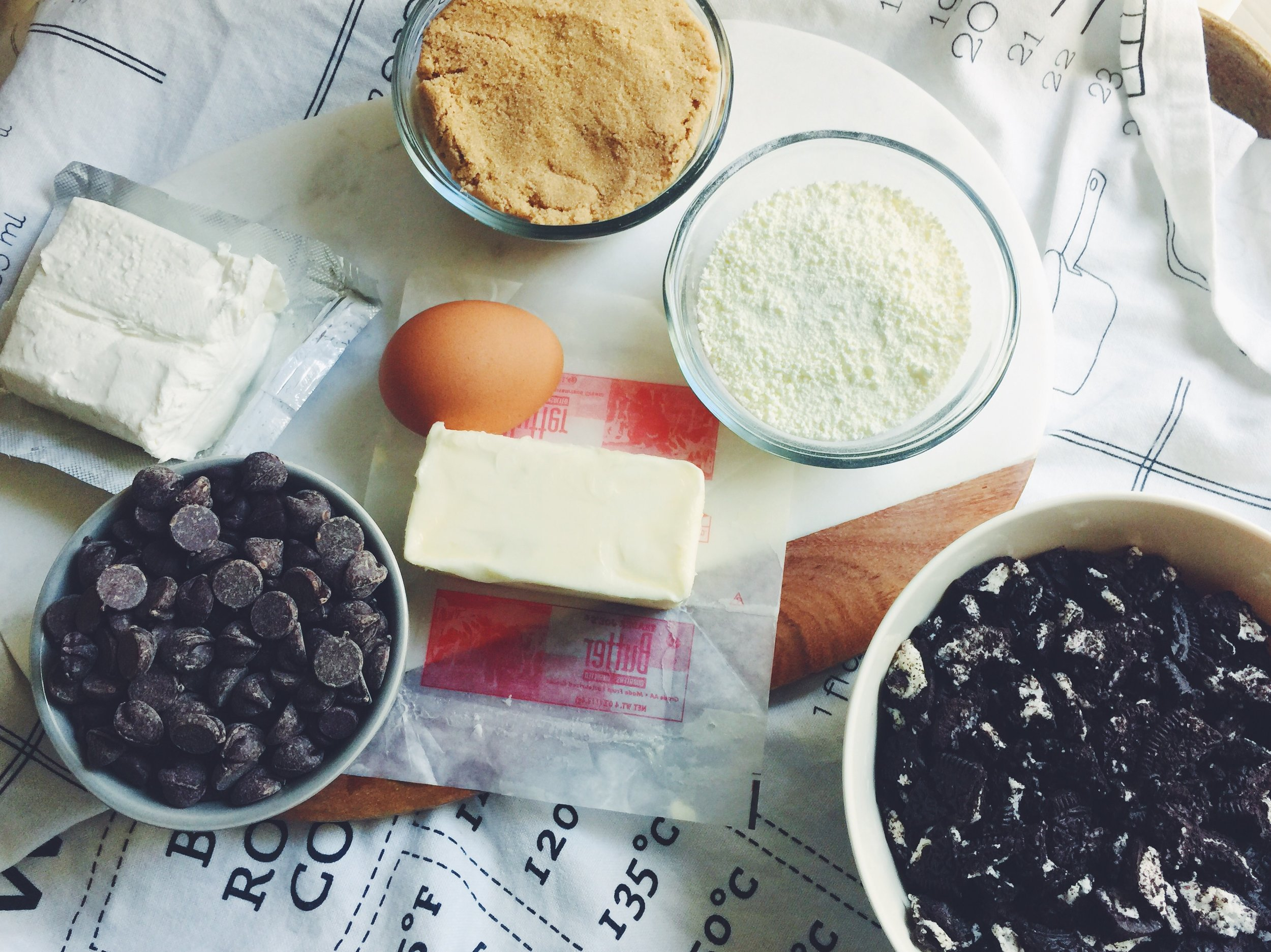 cookies and cream cookie ingredients
