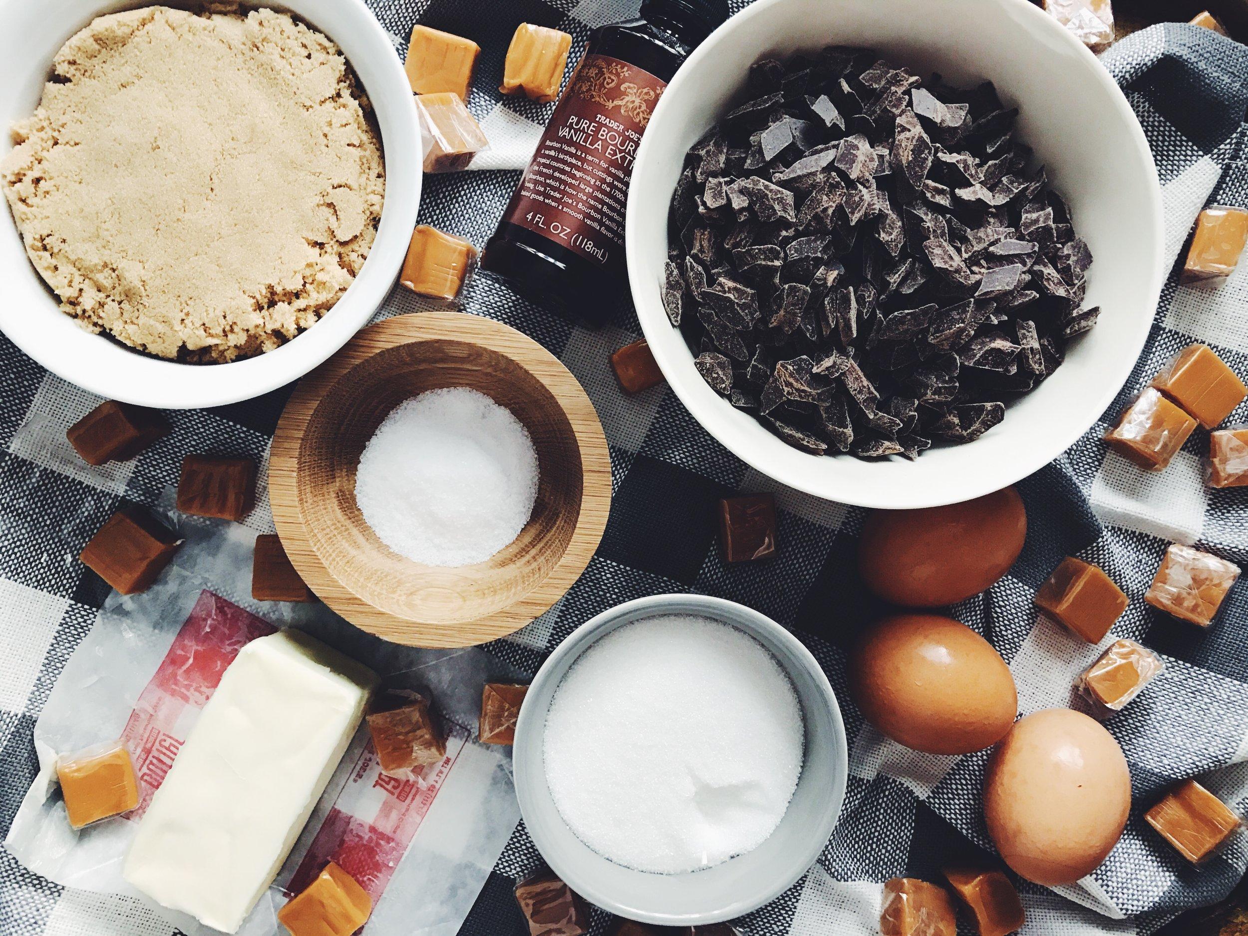 salted caramel chocolate chunk cookie ingredients