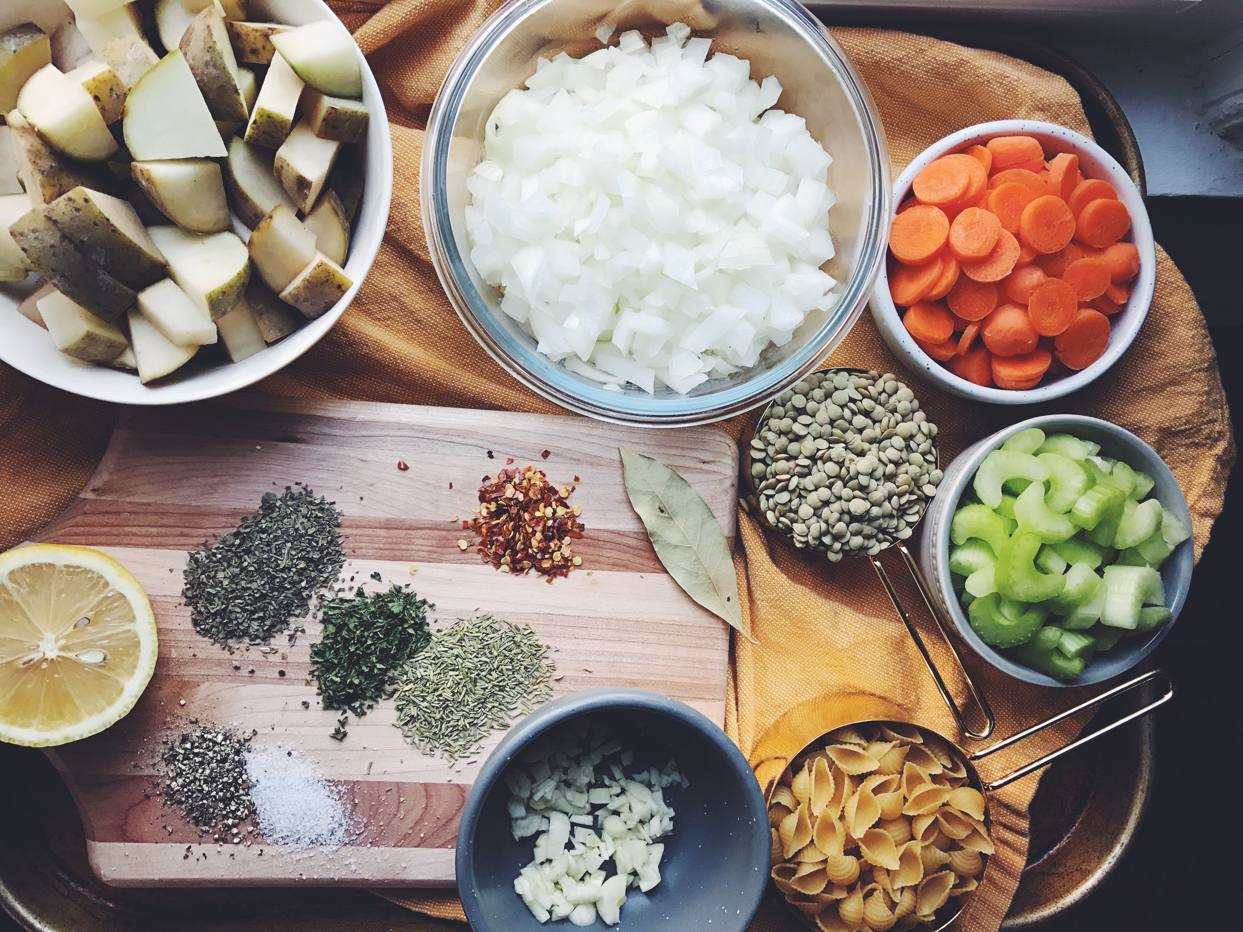 vegan minestrone ingredients