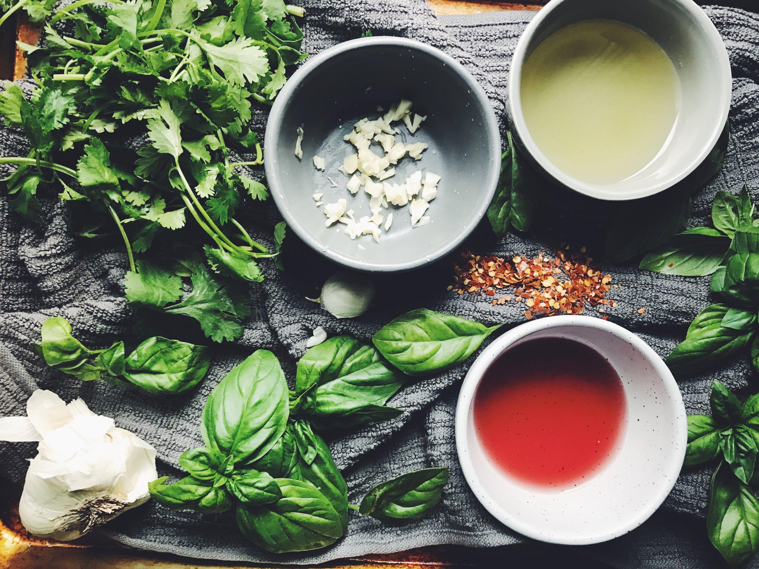 basil chimichurri ingredients