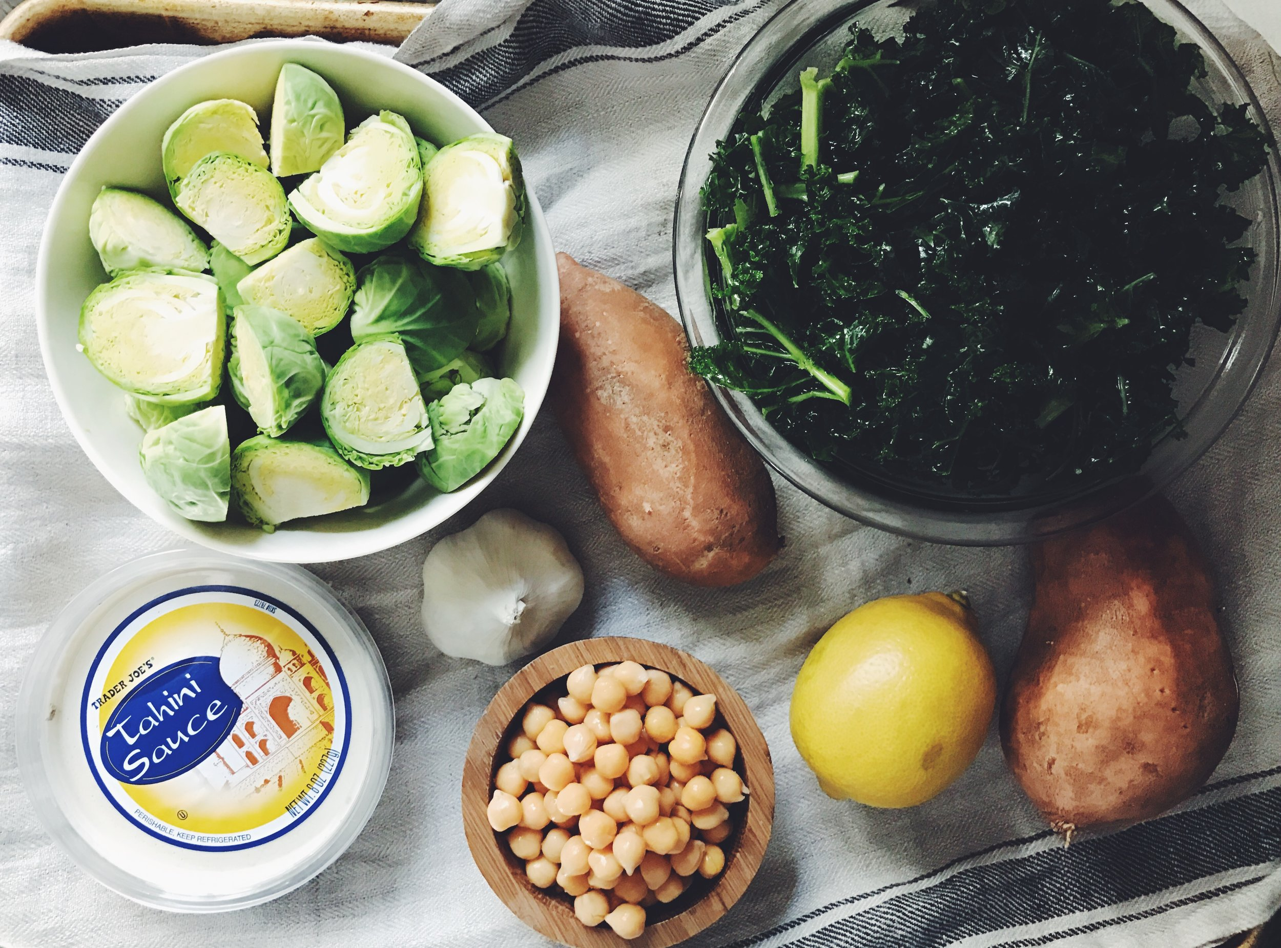 tahini power bowl ingredients