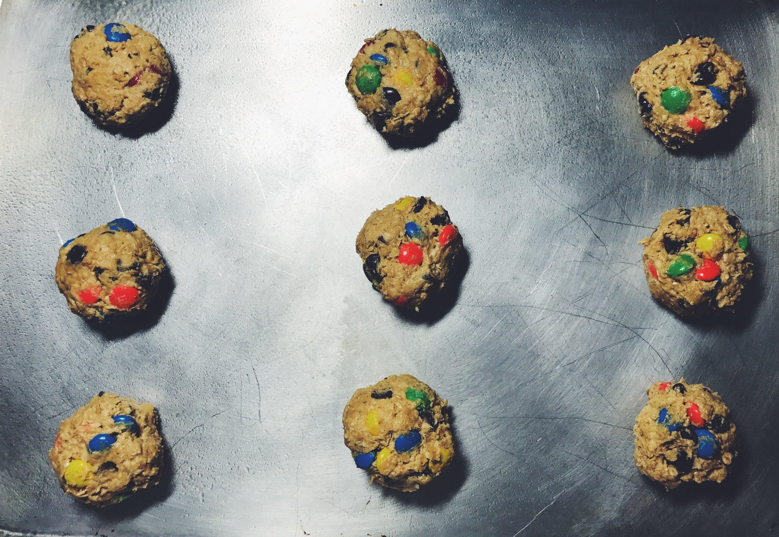 monster cookie dough balls