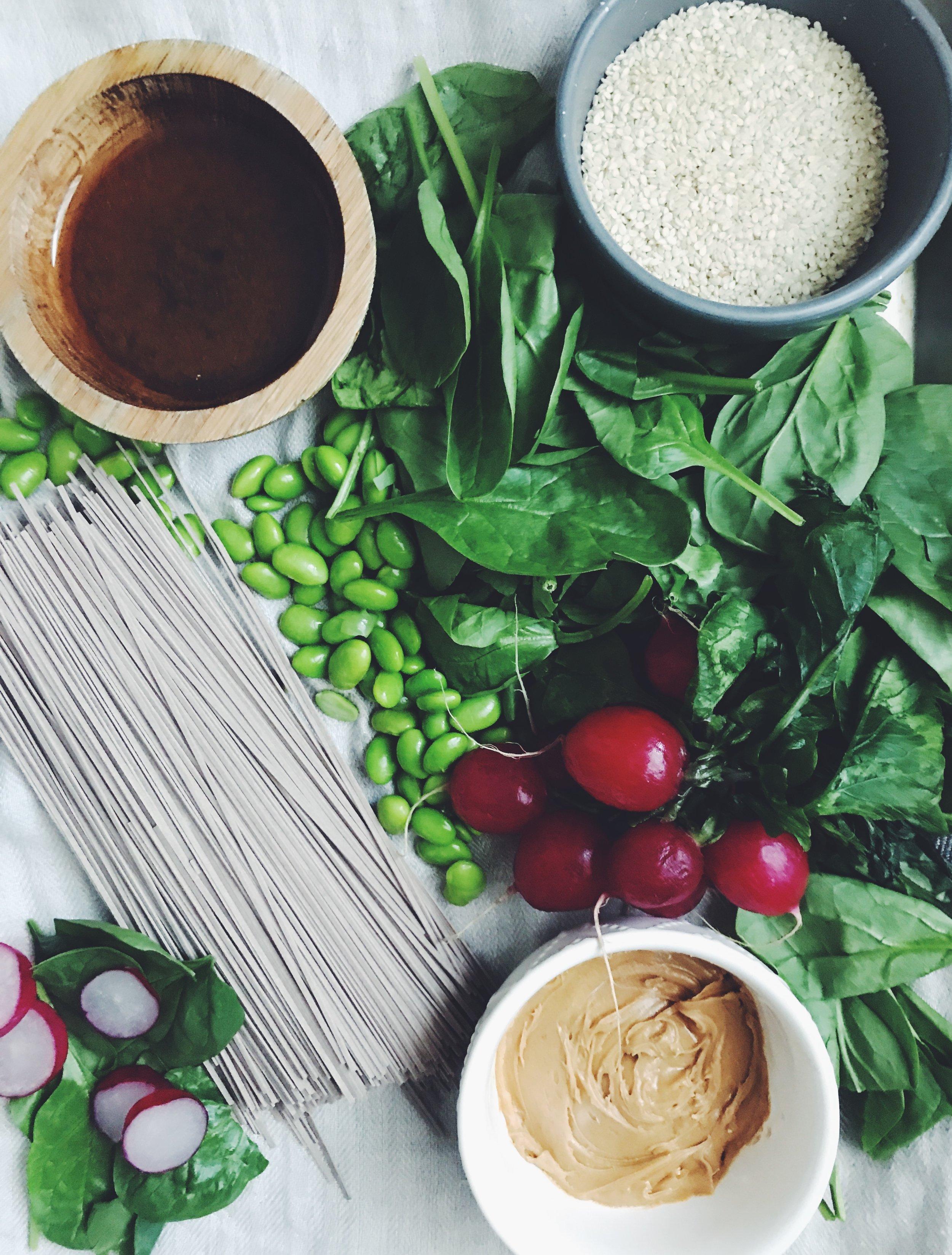 sesame noodle bowl ingredients