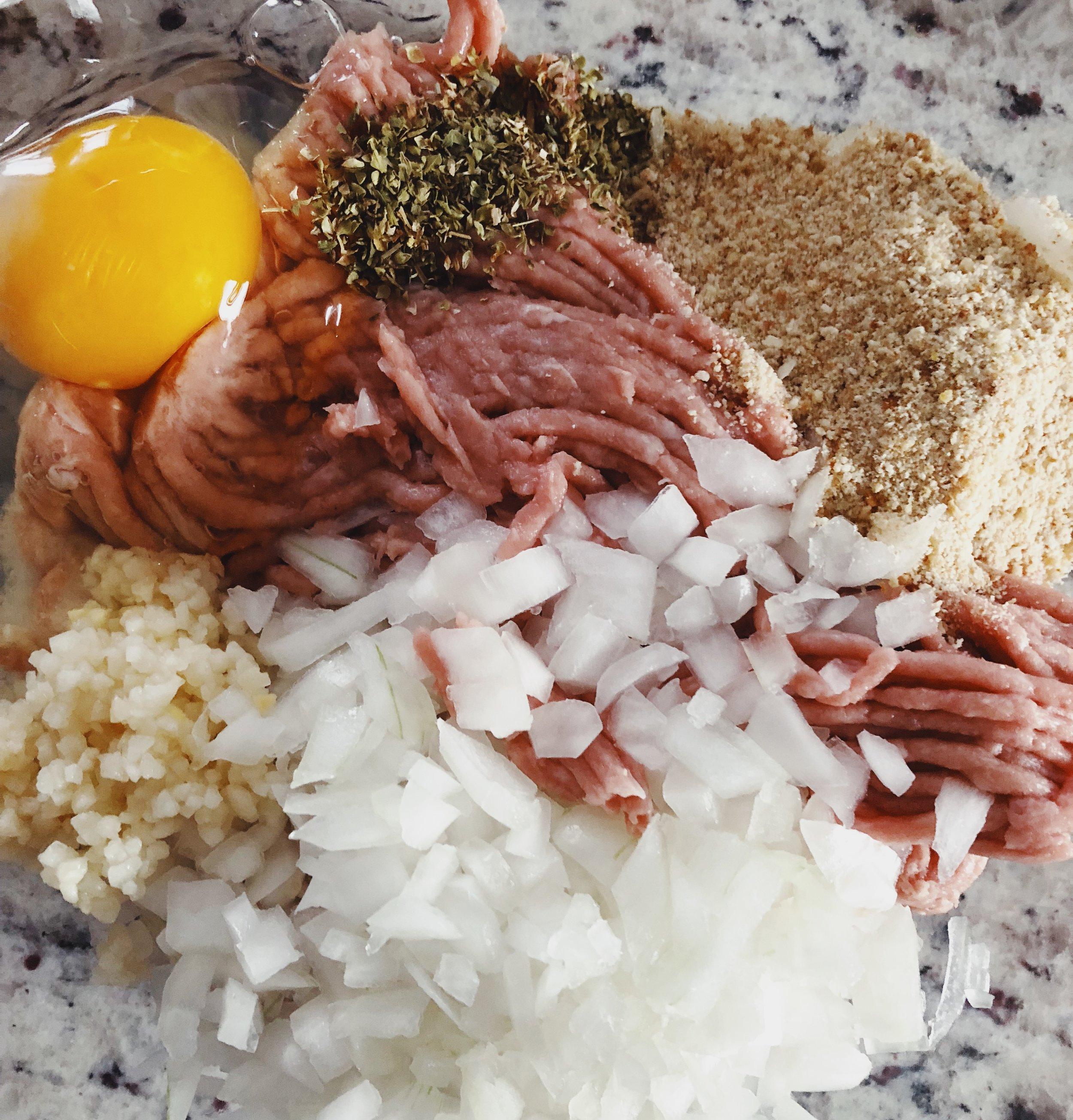 homemade turkey meatball ingredients