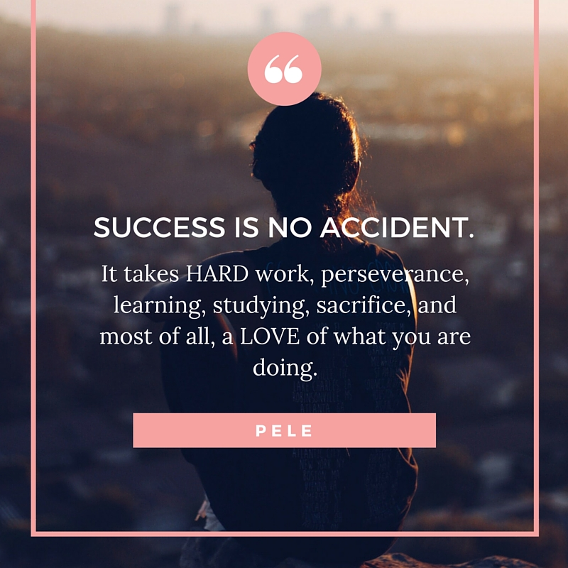 success is not accident