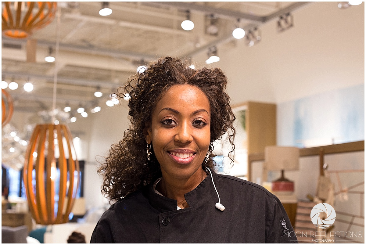 Chef Rhoda at West Elm with Pink Pump Event