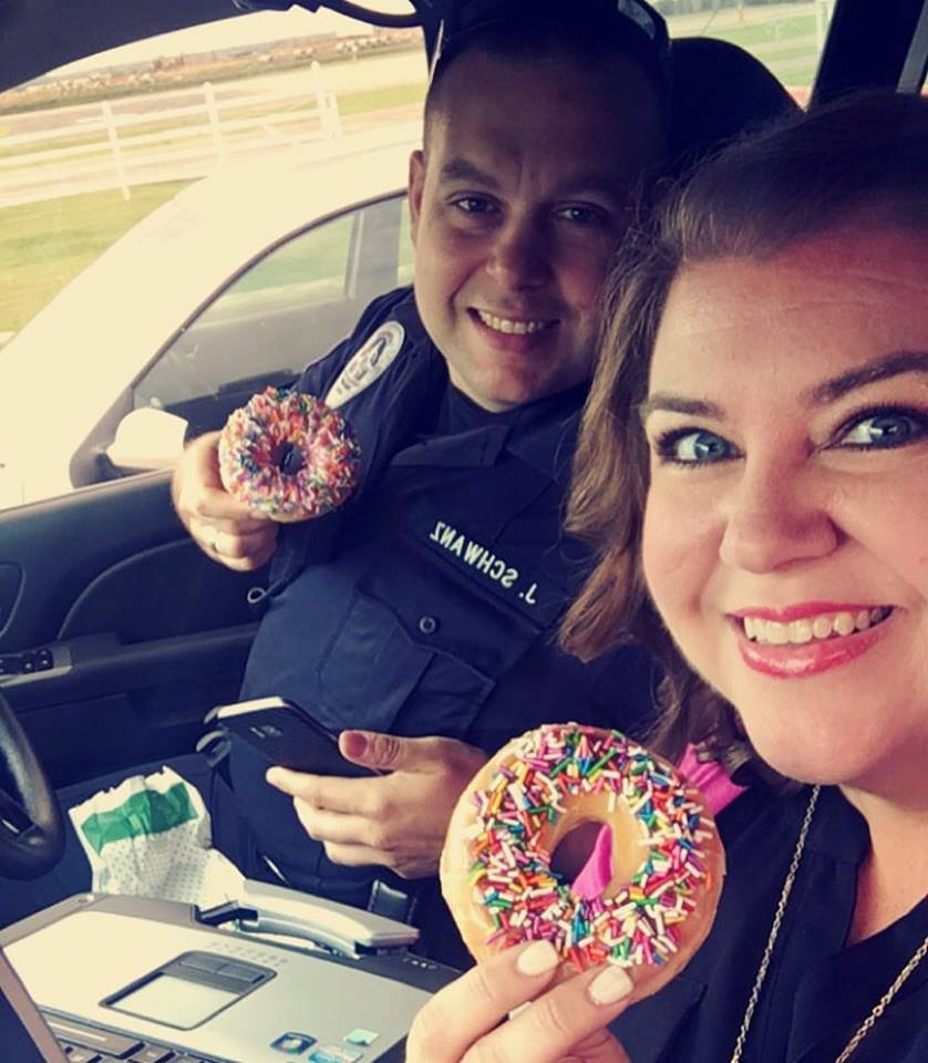 Officers really do love donuts!