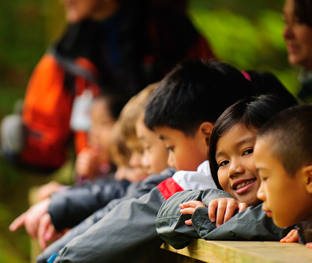 Grade 3 students from John Norquay Elementary in Vancouver spent the day at the Cheakamus Centre getting up close to nature and learning more about the life cycle of salmon.   HSBC BANK CANADA