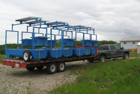 Watering systems being transported to Waterton Park Front (Photo by NCC)