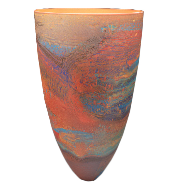 """Pippin Drysdale   Porcelain and Gold Lustres """"Lake Lefroy Suspension"""""""
