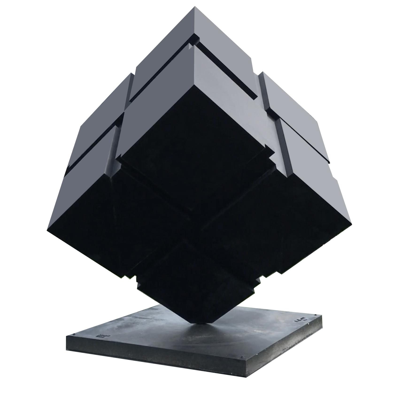 "Tony Rosenthal   Rotating Cube Sculpture  14 ' 6"""