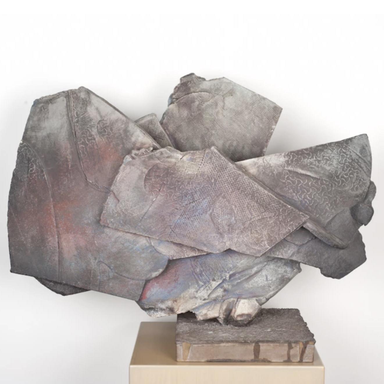 """Paul Soldner   Iconic Sculpture, Low-salt,Raku Fired  24.5 x 33 x 12"""""""