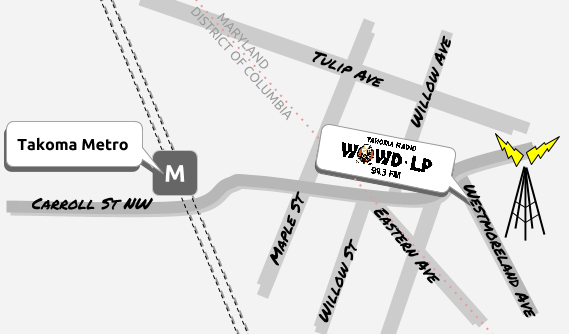 Our studio location is 7014-B Westmoreland Ave,Takoma Park, Md